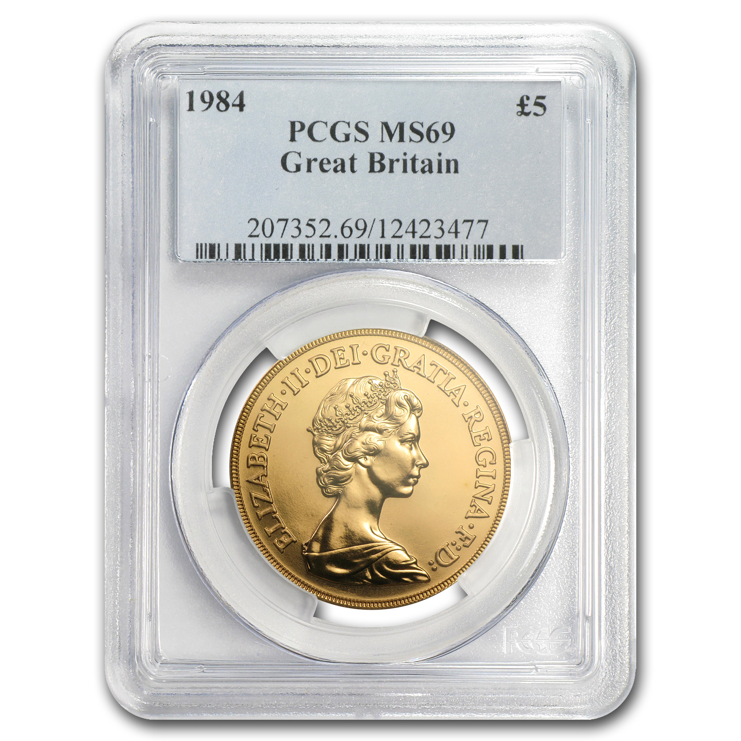Great Britain Gold 5 Pounds (1984-1999) MS-69 NGC/PCGS