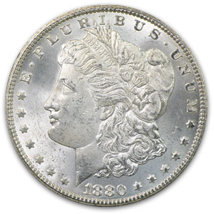 1880-CC Morgan Dollar MS-62 (VAM-4, 80/79, GSA Holder, Top-100)
