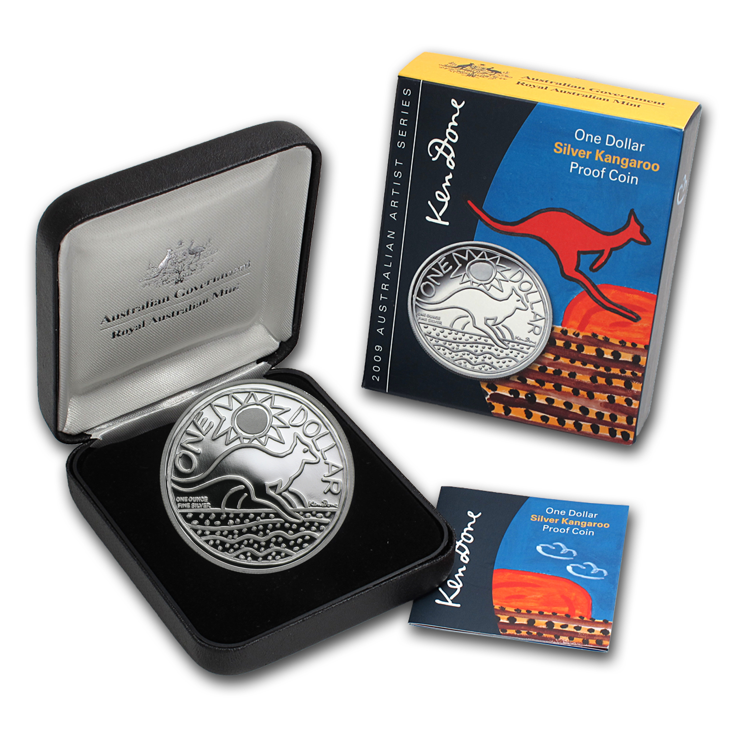 2009 Australia 1 oz Silver Proof Kangaroo Artists Series