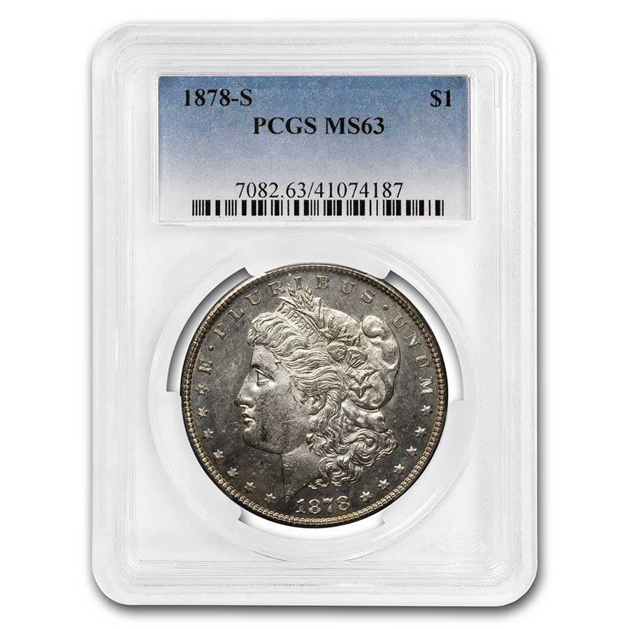 1878-S Morgan Dollar MS-63 PCGS