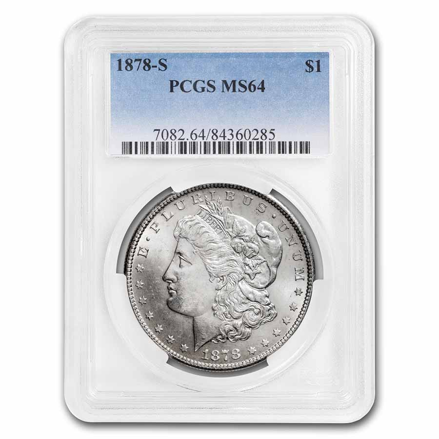 1878-S Morgan Dollar MS-64 PCGS