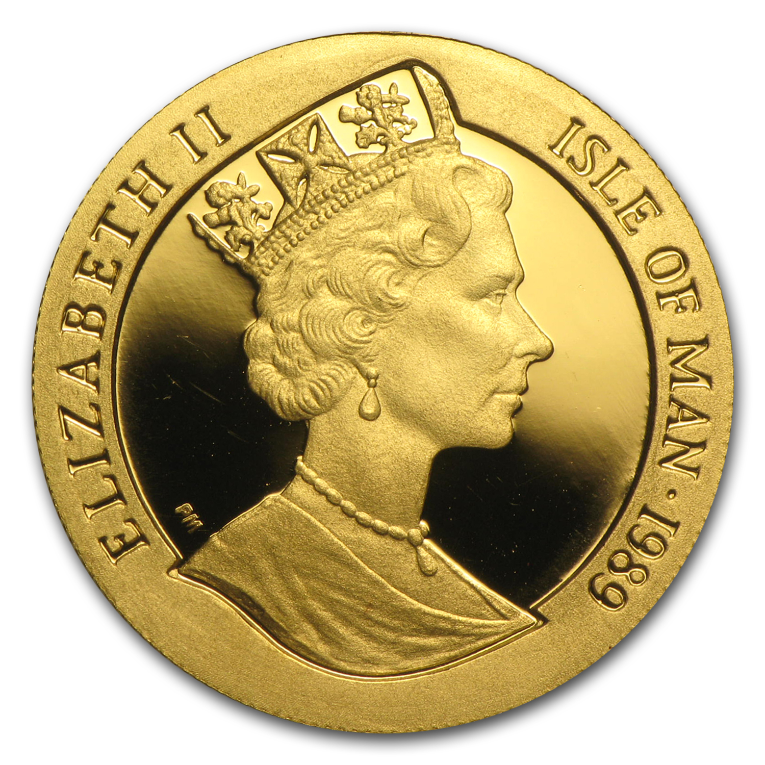 1989 Isle of Man 1/5 Crown Proof Gold George Washington