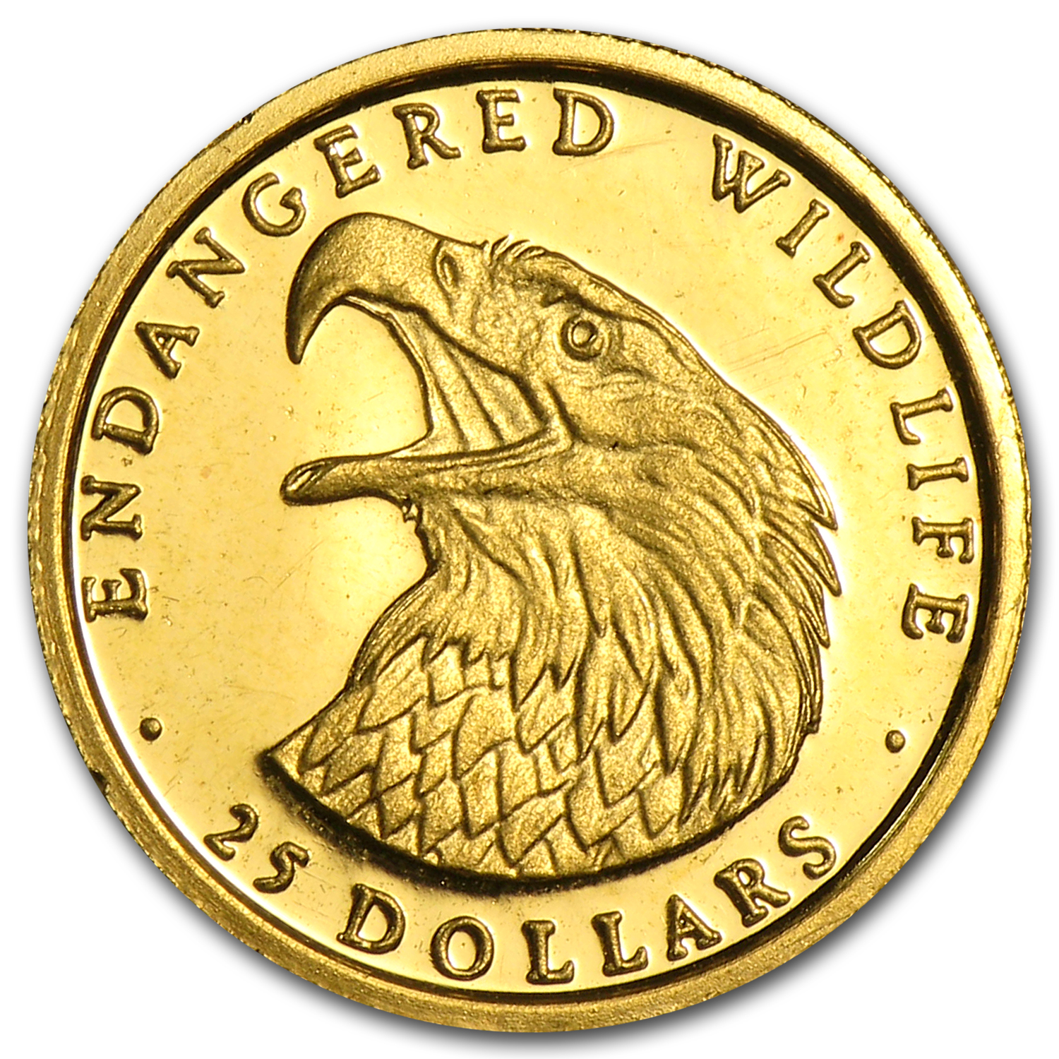 1990 Cook Islands Gold $25 Endangered Wildlife Proof