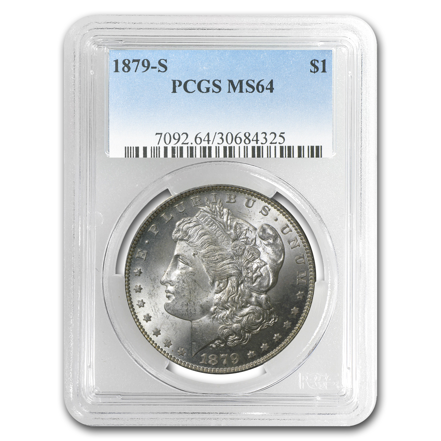 1879-S Morgan Dollar MS-64 PCGS