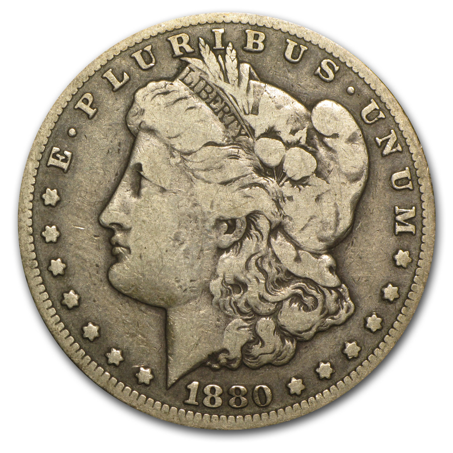 1880-CC Morgan Dollar Fine