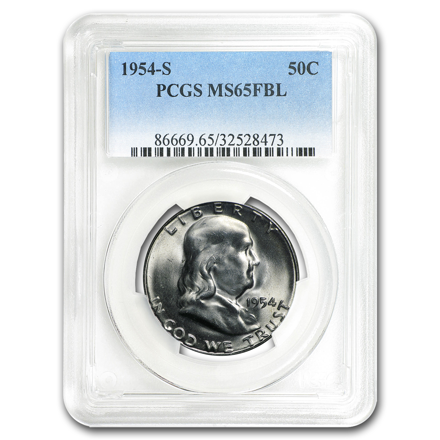 1954-S Franklin Half Dollar MS-65 PCGS (FBL)