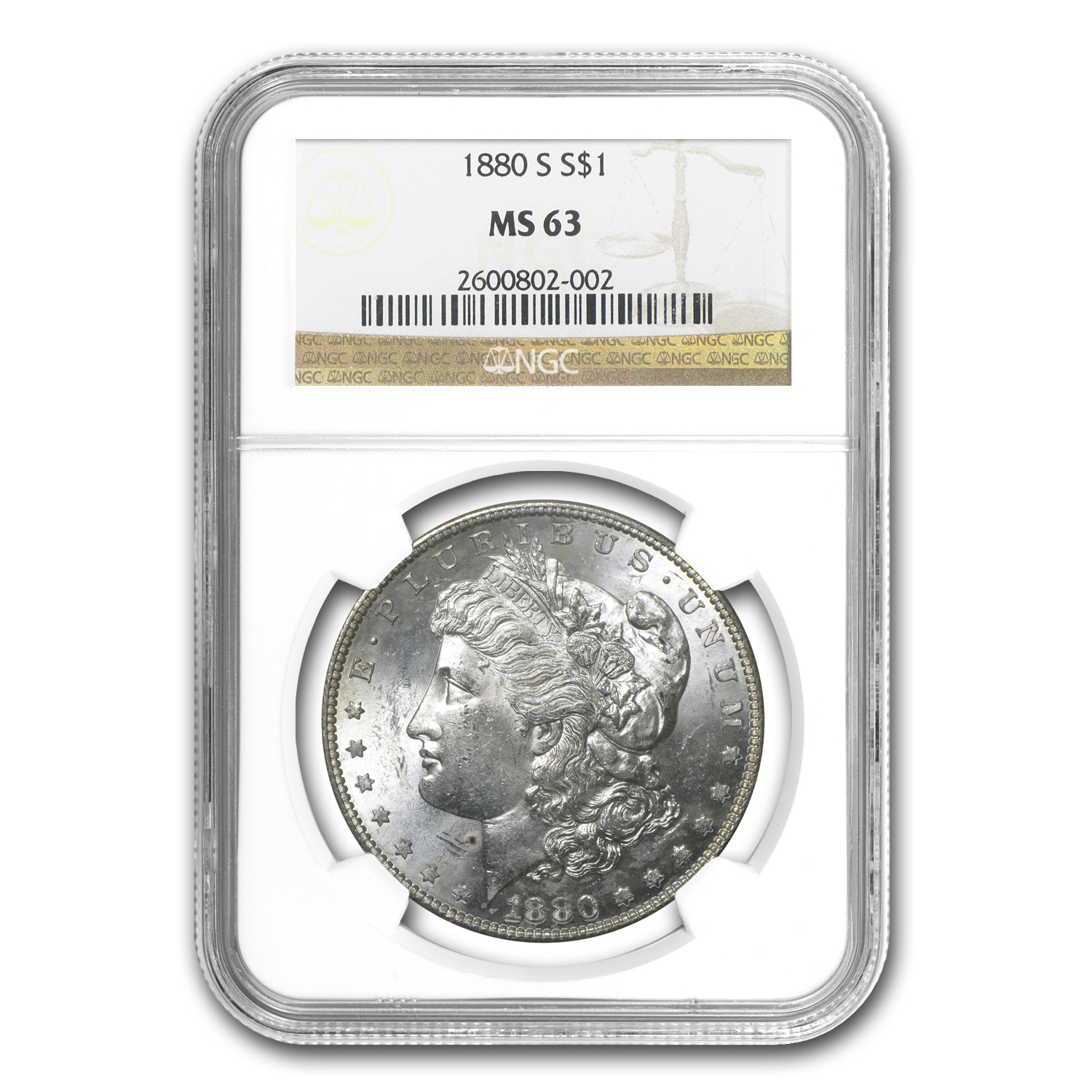 1880-S Morgan Dollar MS-63 NGC
