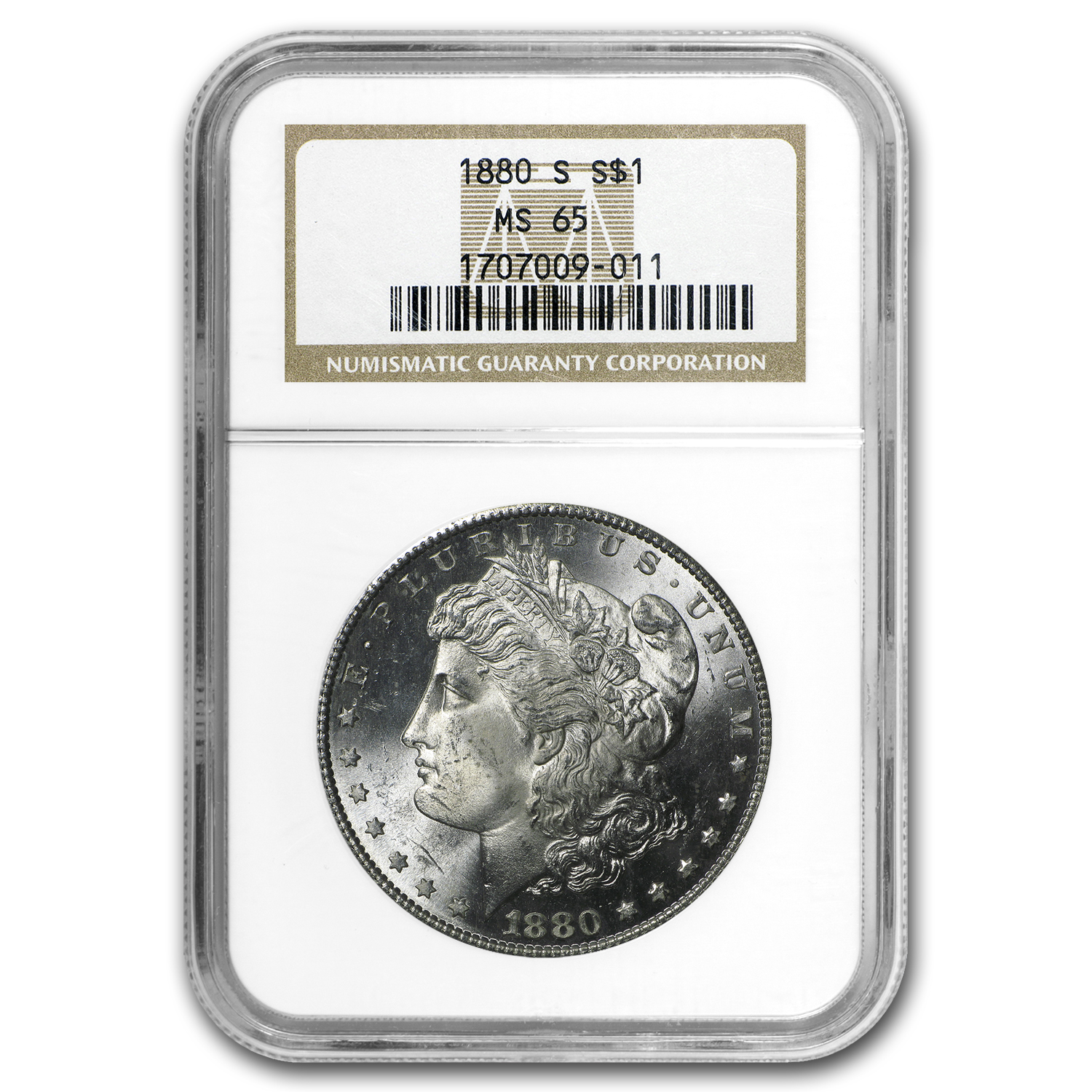 1880-S Morgan Dollar MS-65 NGC