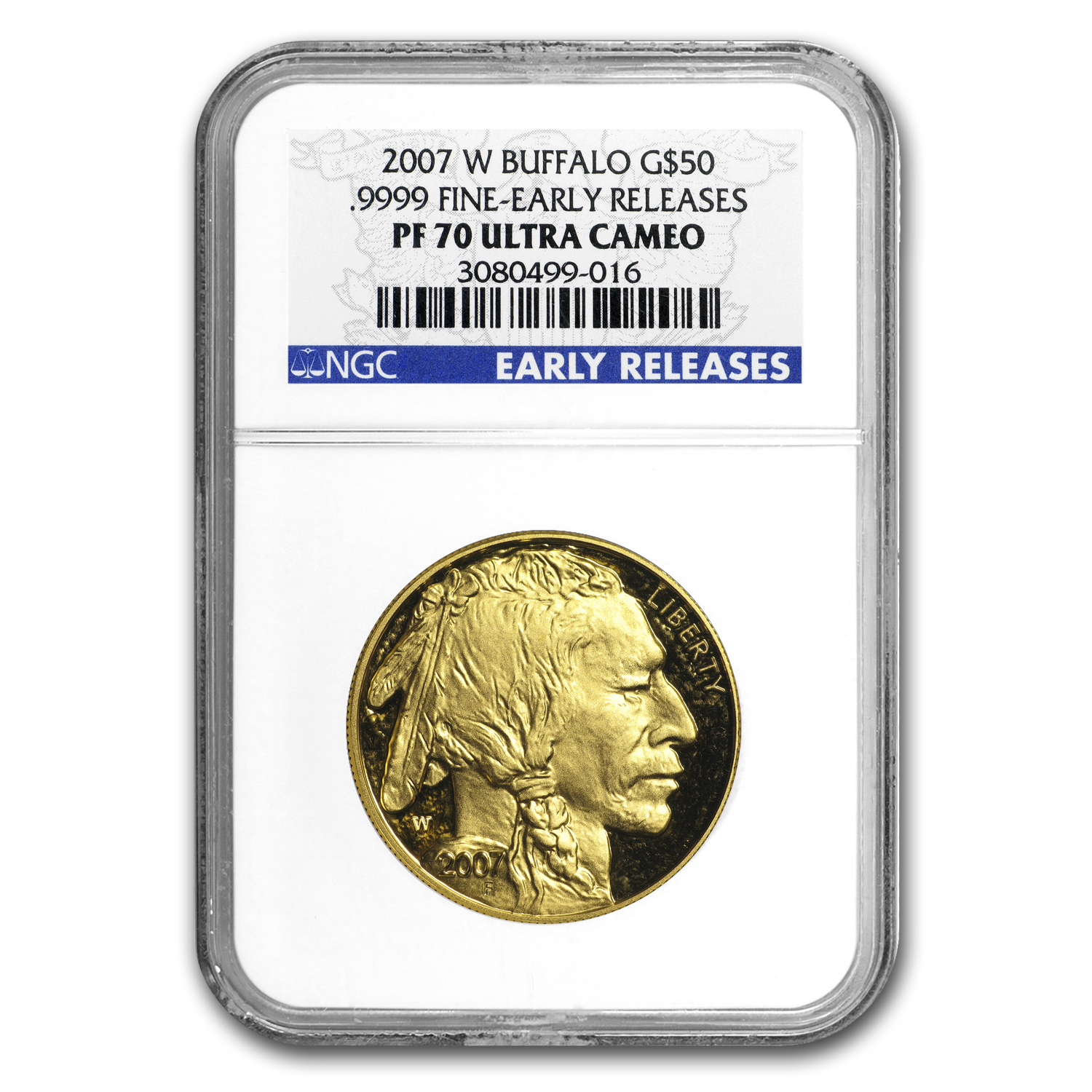 2007-W 1 oz Proof Gold Buffalo PF-70 NGC (ER)