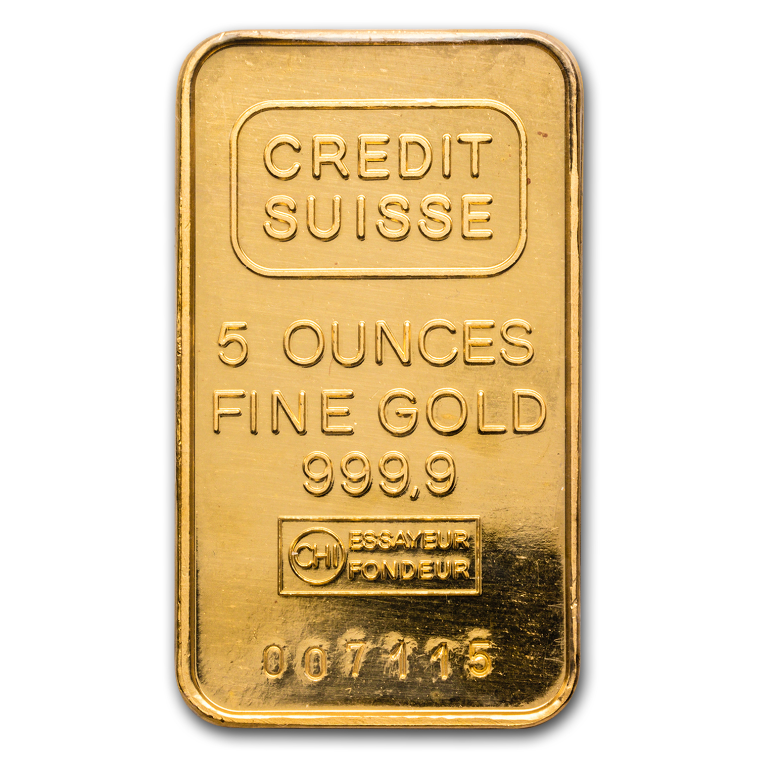 5 oz Gold Bar - Credit Suisse
