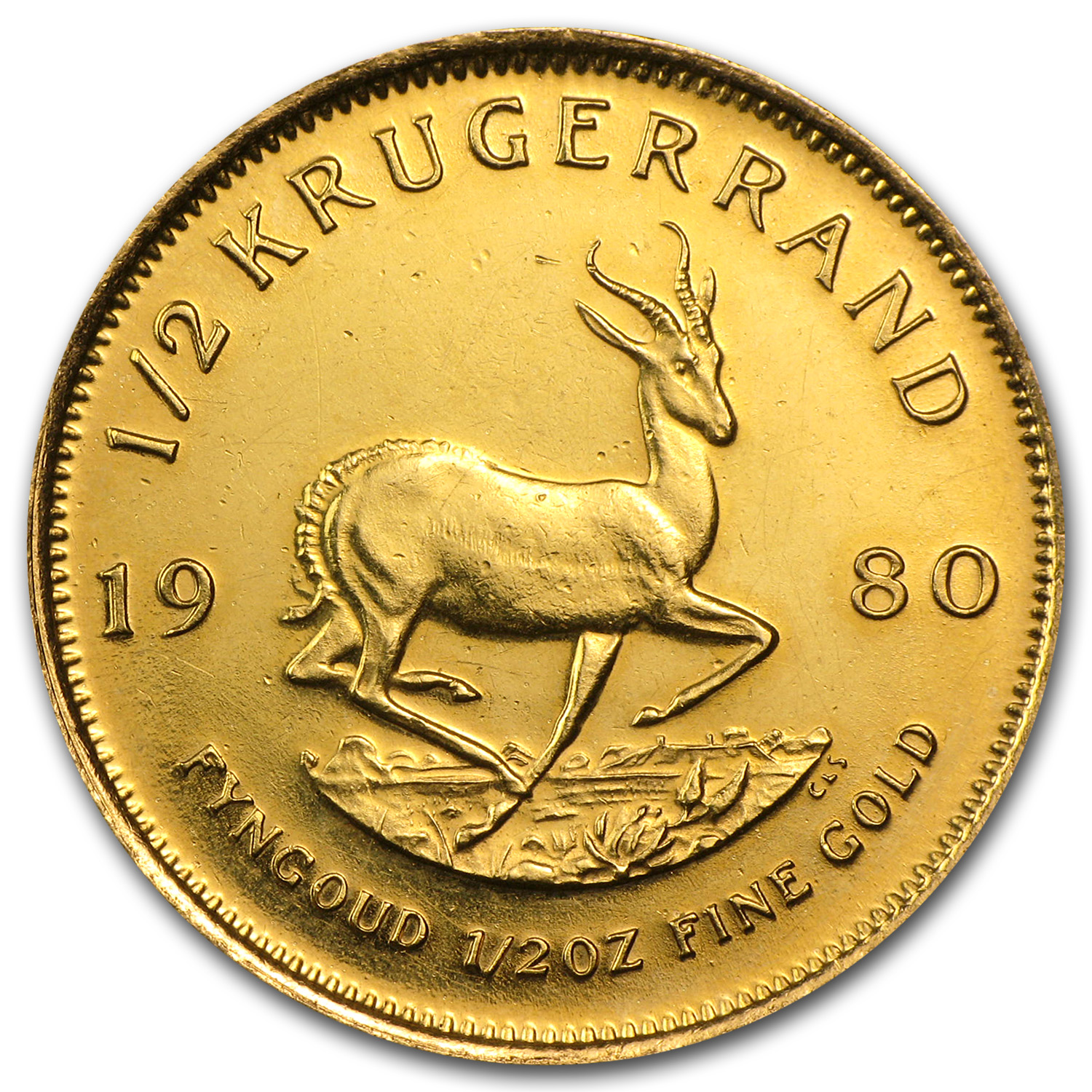1/2 oz Gold South African Krugerrand (Abrasions)