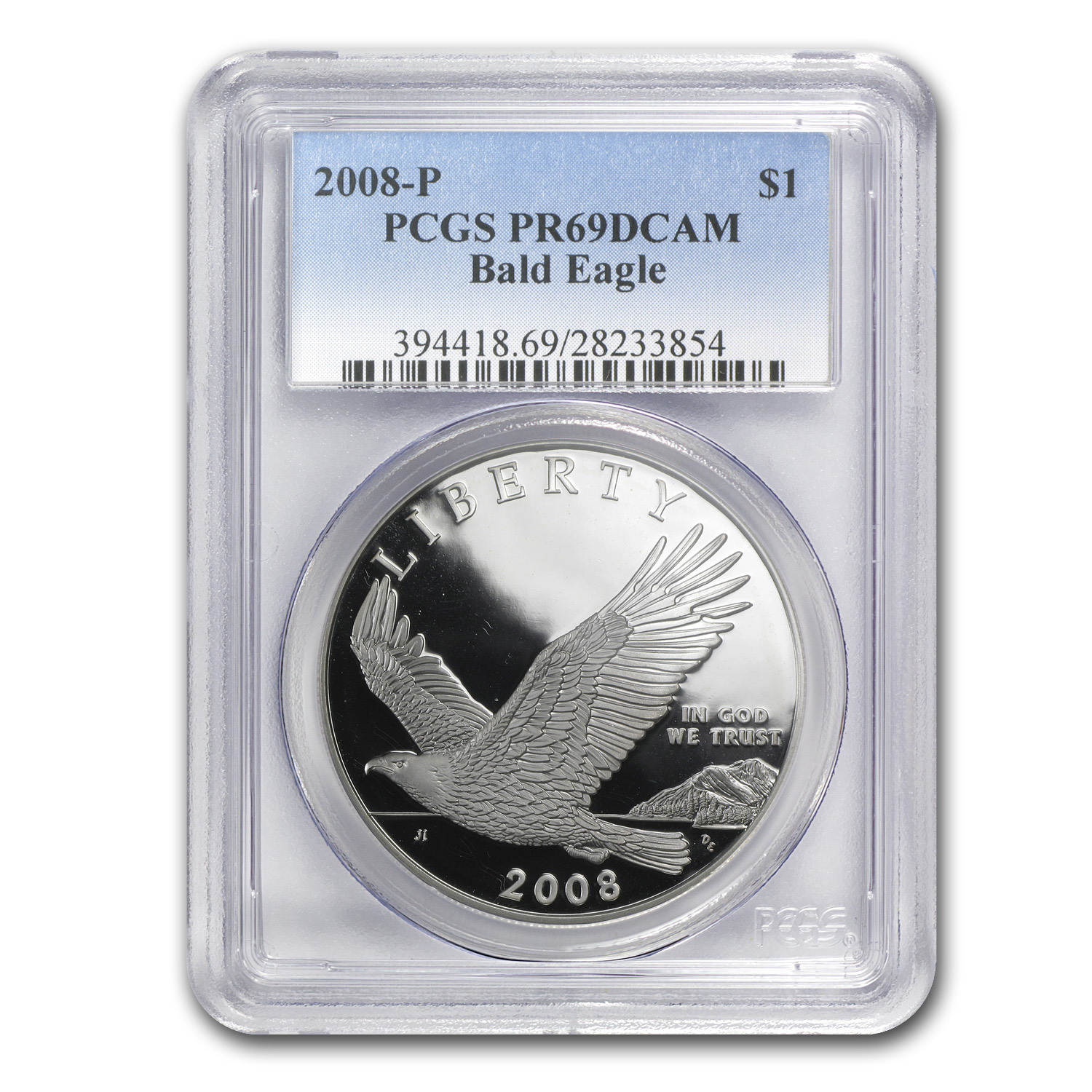 2008-P Bald Eagle $1 Silver Commem PR-69 PCGS