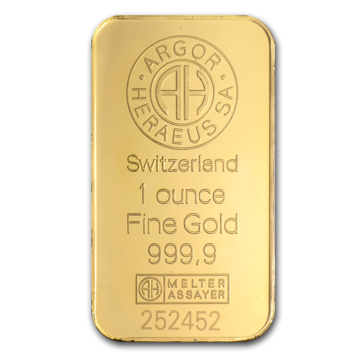 1 oz Gold Bar - Argor-Heraeus
