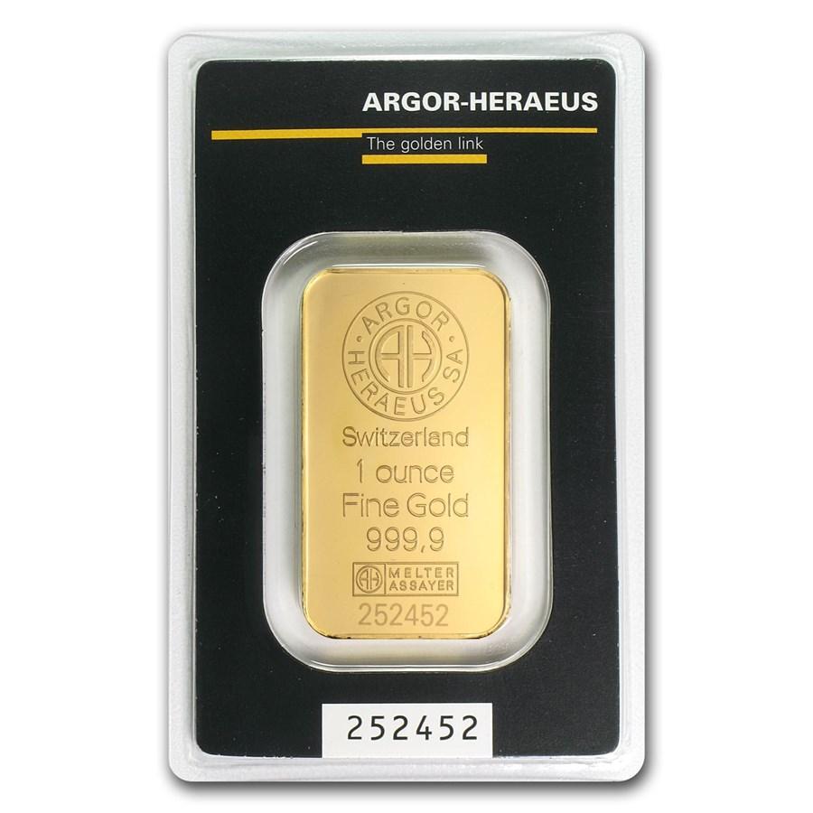 Buy 1 Oz Gold Bar Argor Heraeus Heraeus Gold Bars