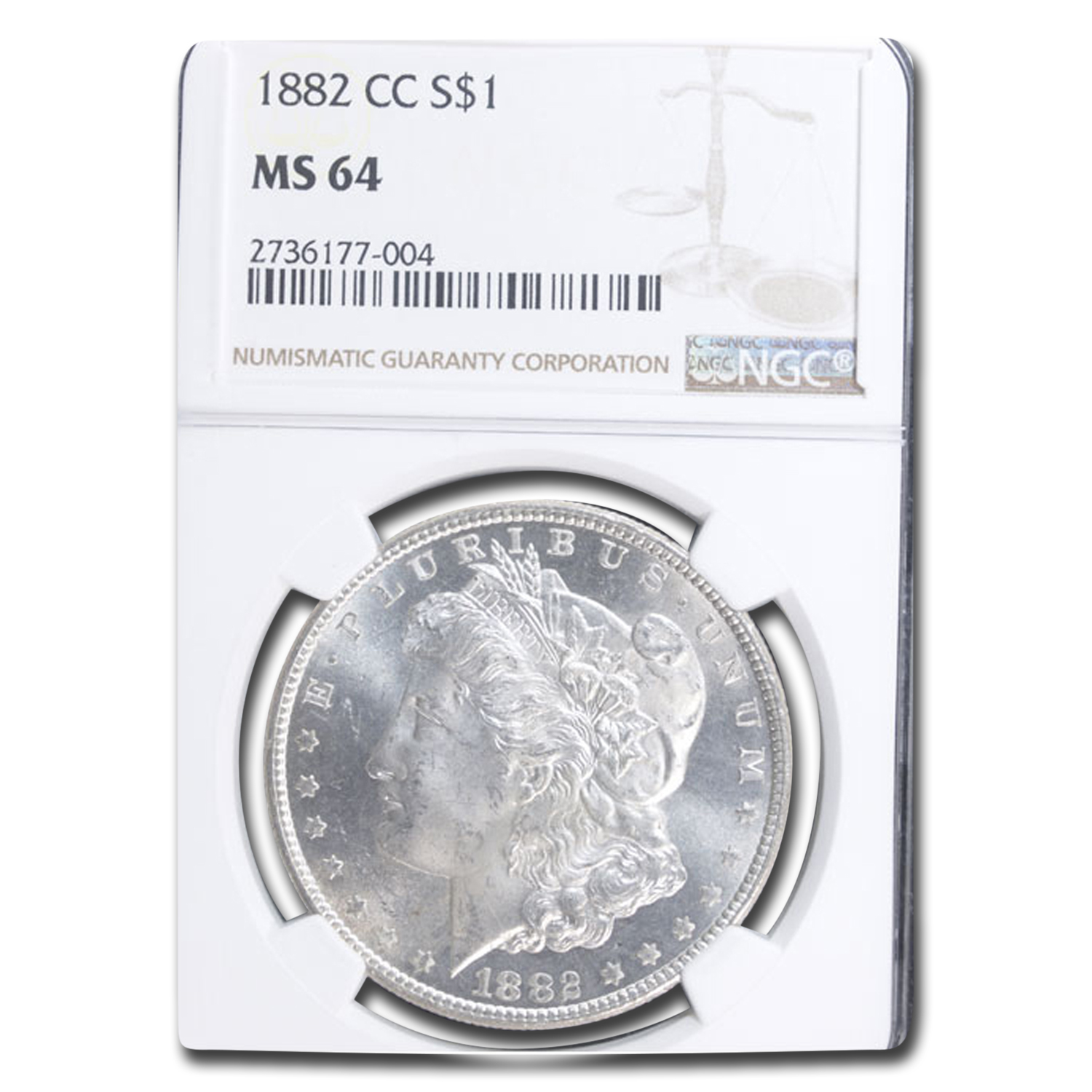 1882-CC Morgan Dollar MS-64 NGC