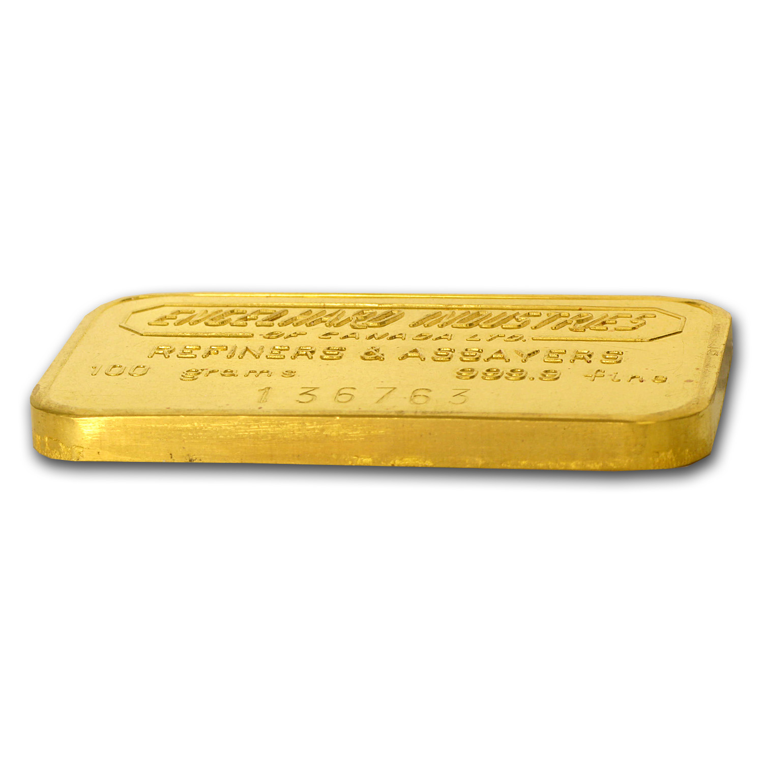 100 gram Gold Bar - Engelhard Industries of Canada