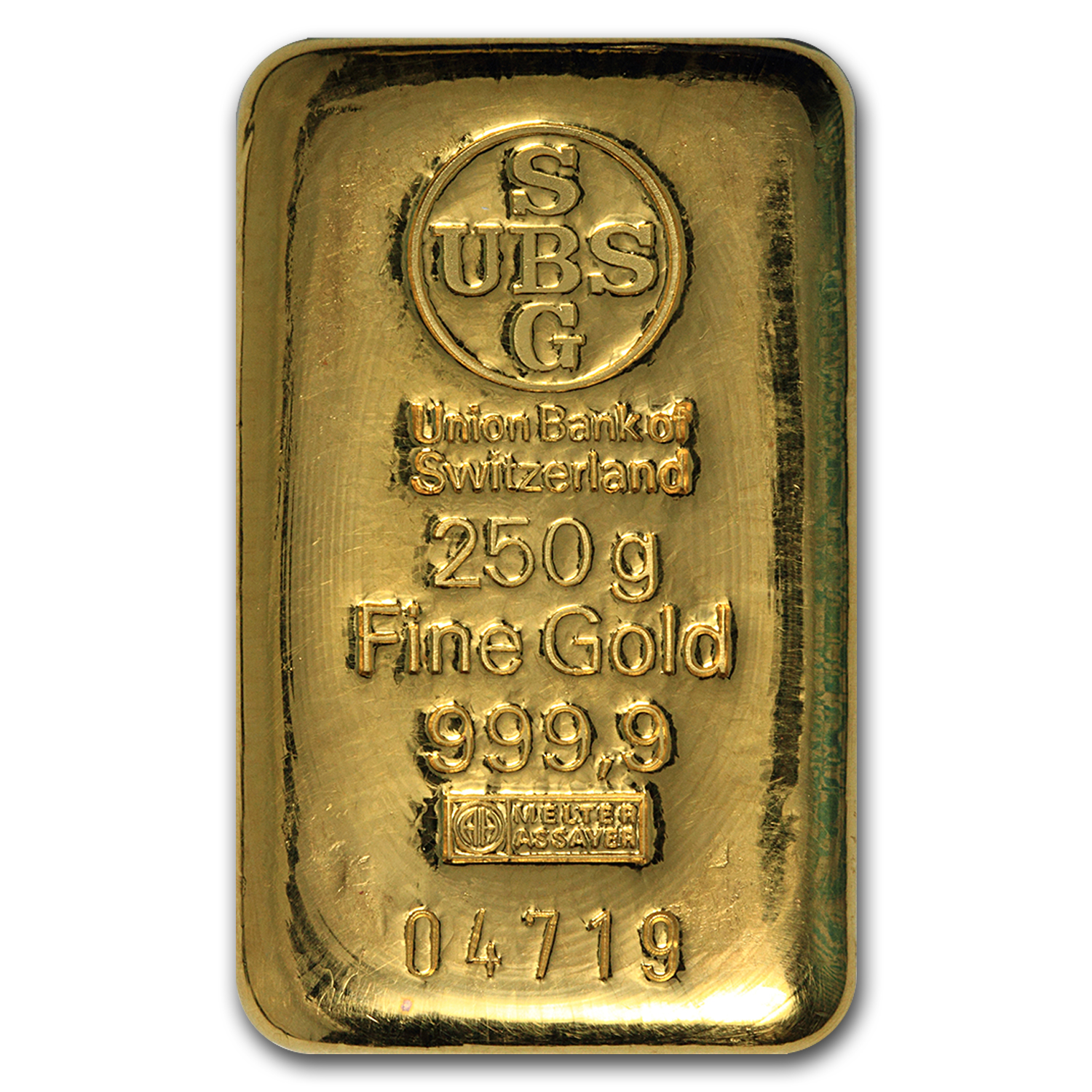 250 gram Gold Bar - UBS