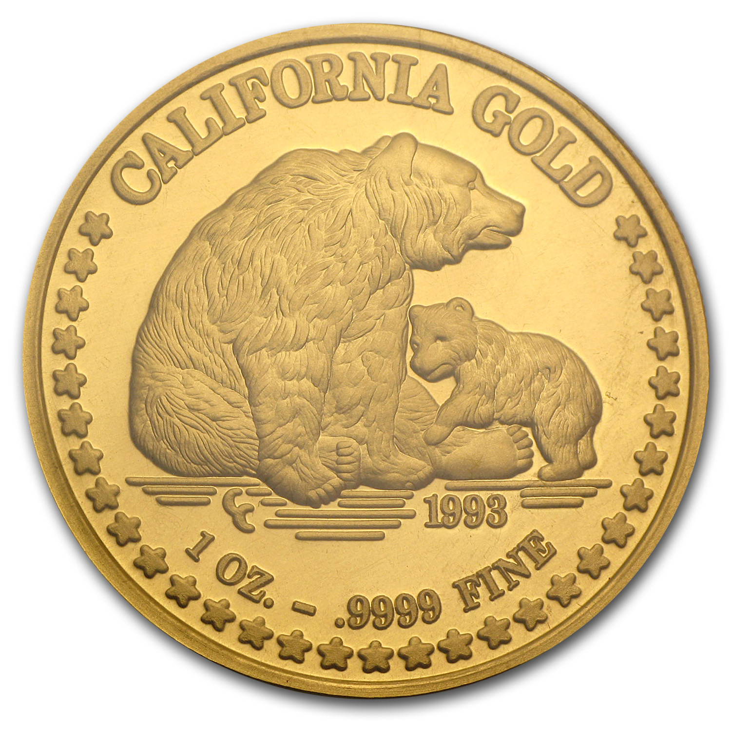 1 oz Gold Round - Great Seal of California