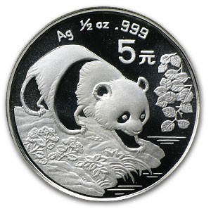 1994 China 1/2 oz Silver Panda (Sealed)