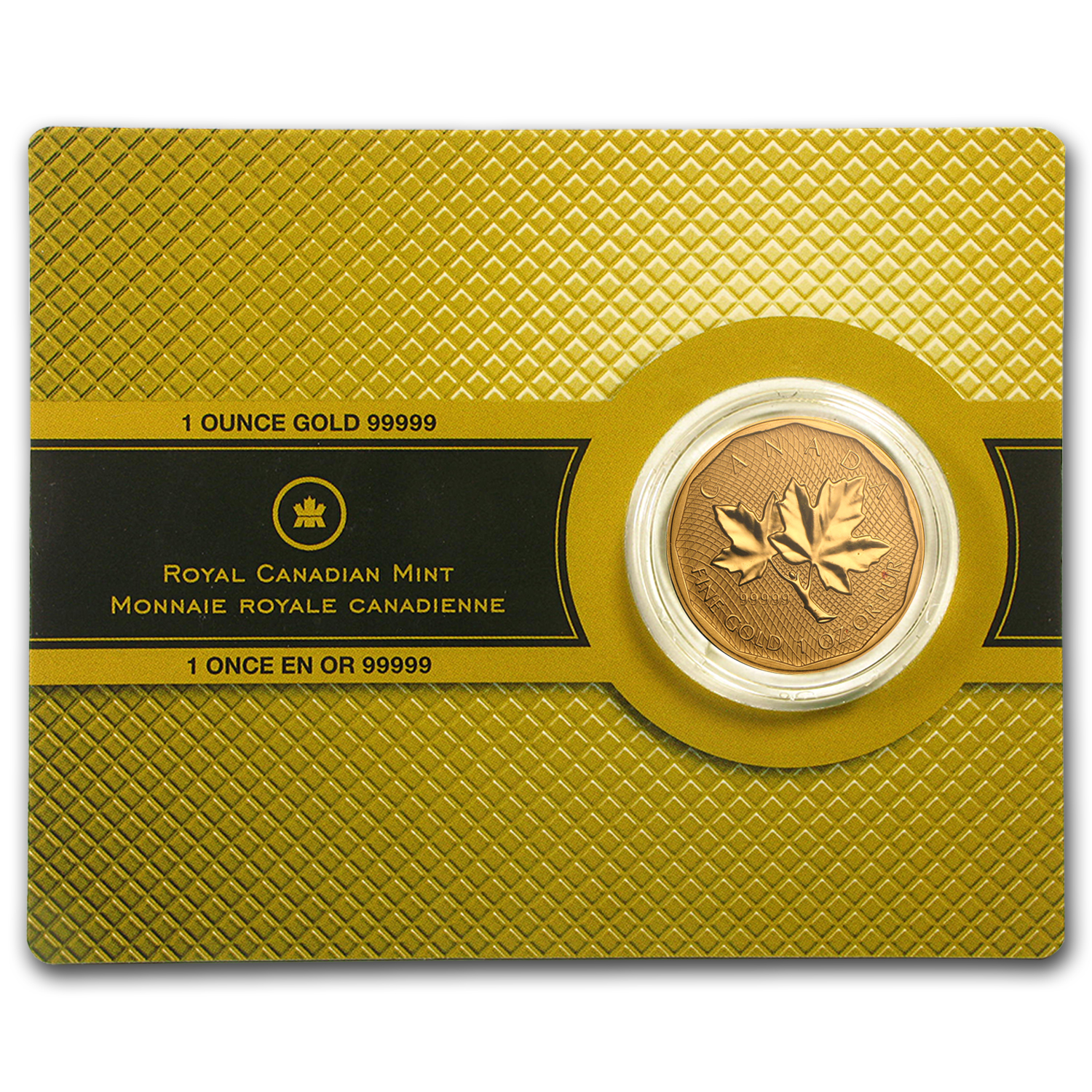 2008 1 oz Gold Canadian Maple Leaf .99999 Variety (Abrasions)