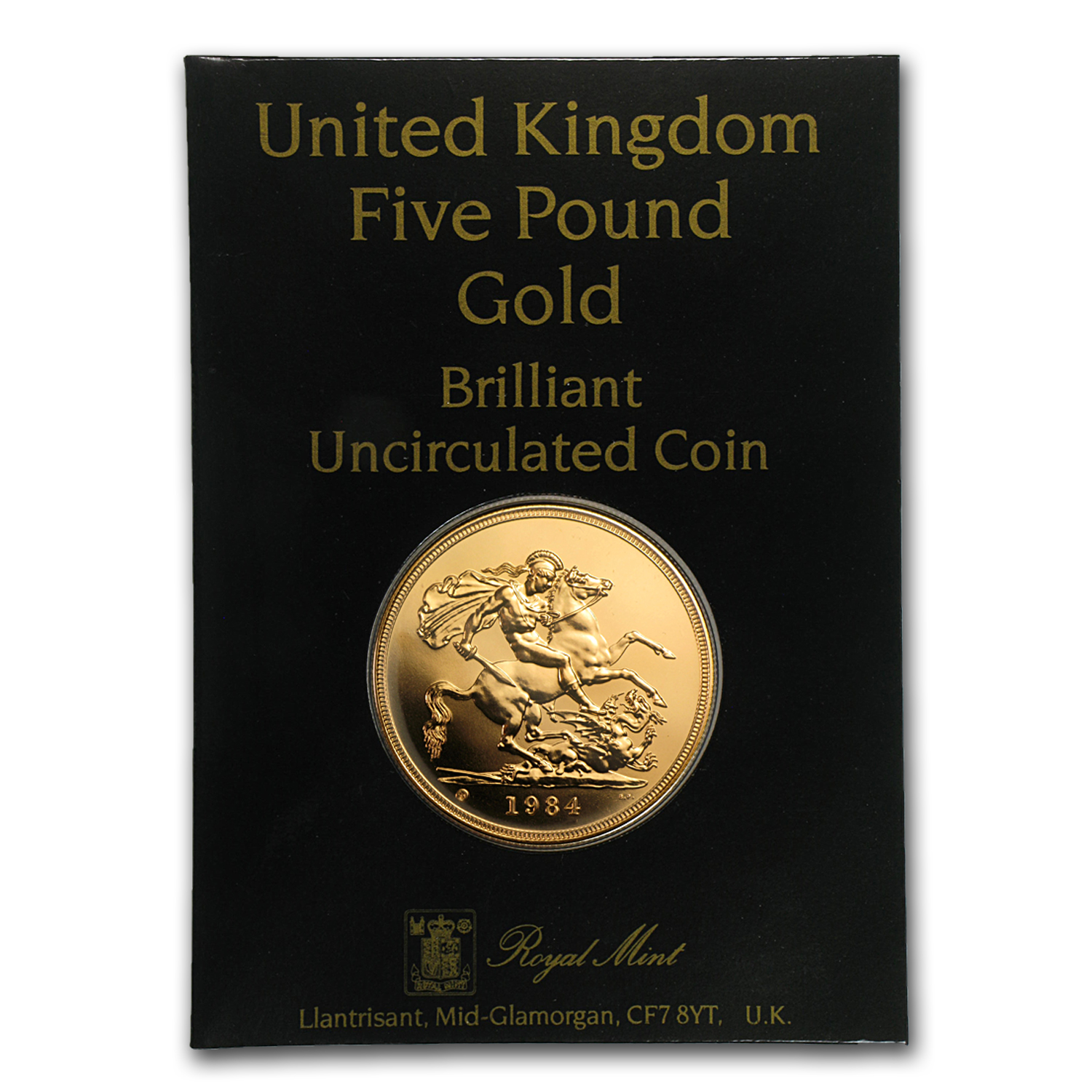 Great Britain 1984 Gold £5 BU