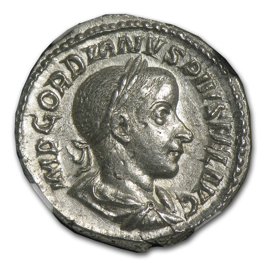 Roman Ar Denarius Emp Gordian Iii 238 244 Ad Ch Au Ngc