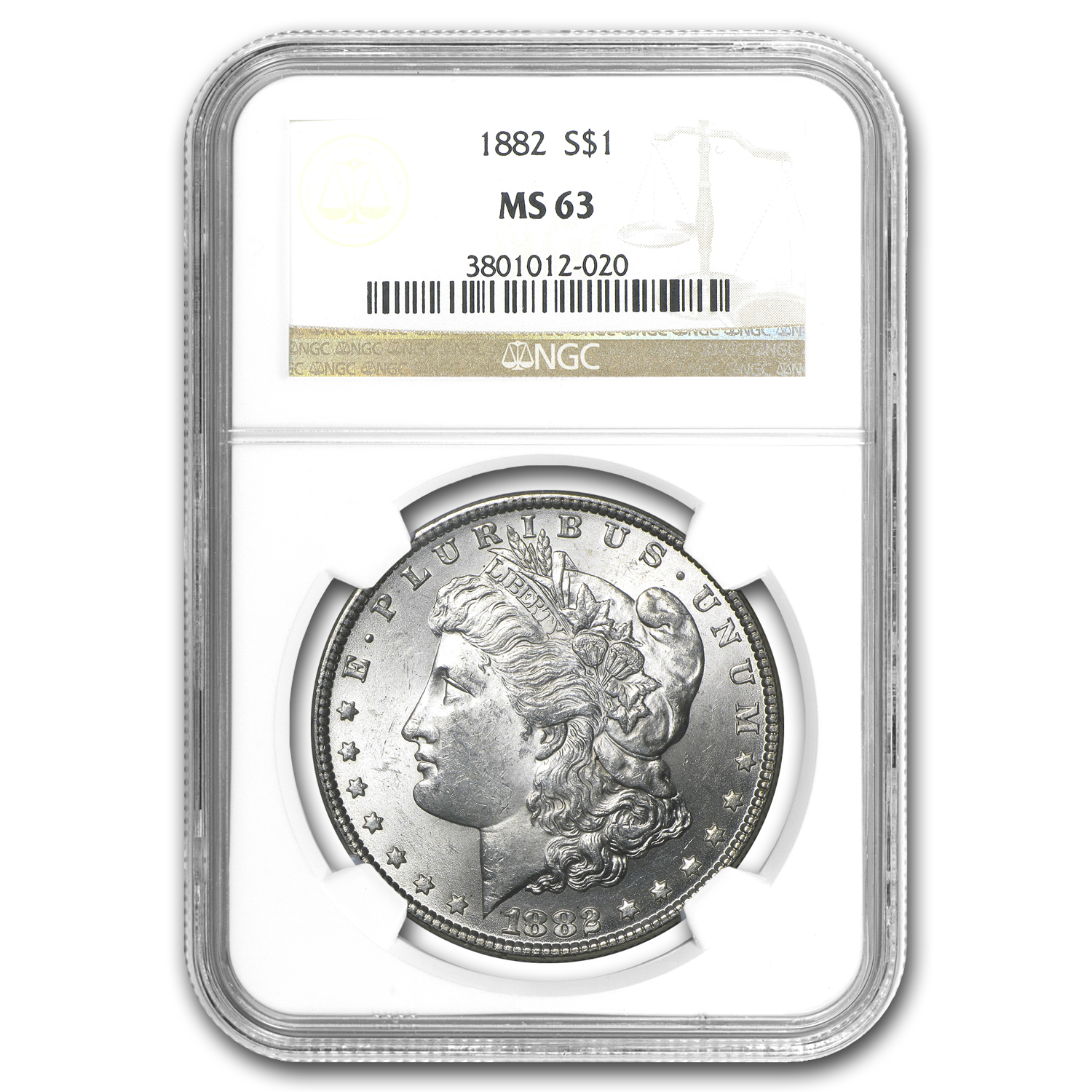 1882 Morgan Dollar MS-63 NGC