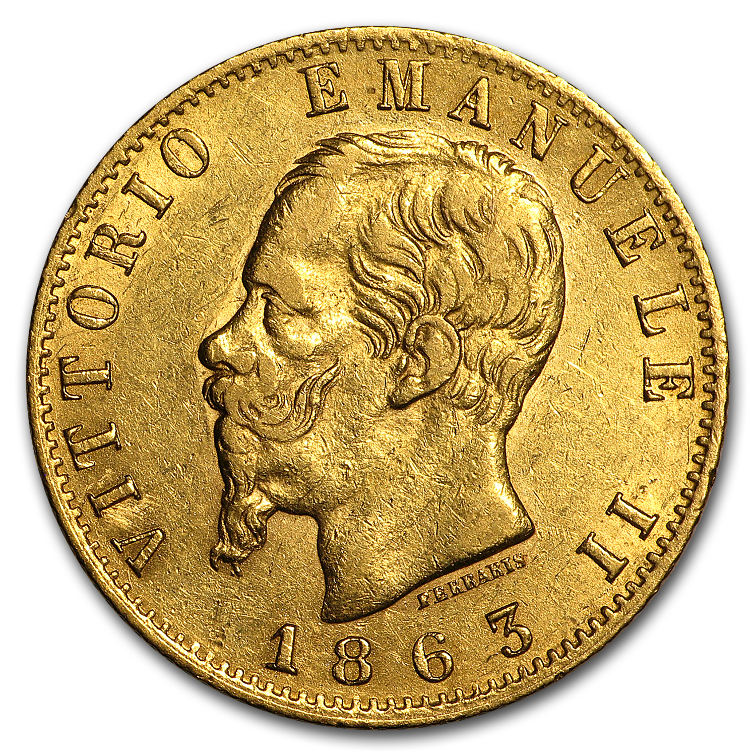 Italy Gold 20 Lire Average Circ