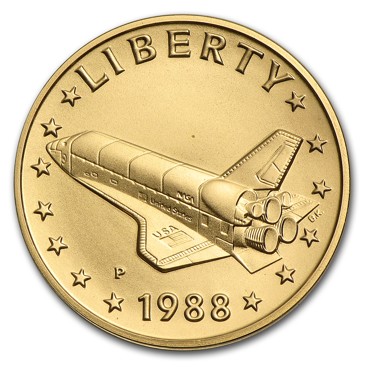 .2419 oz Gold Round - America in Space Young Astronaut Medal