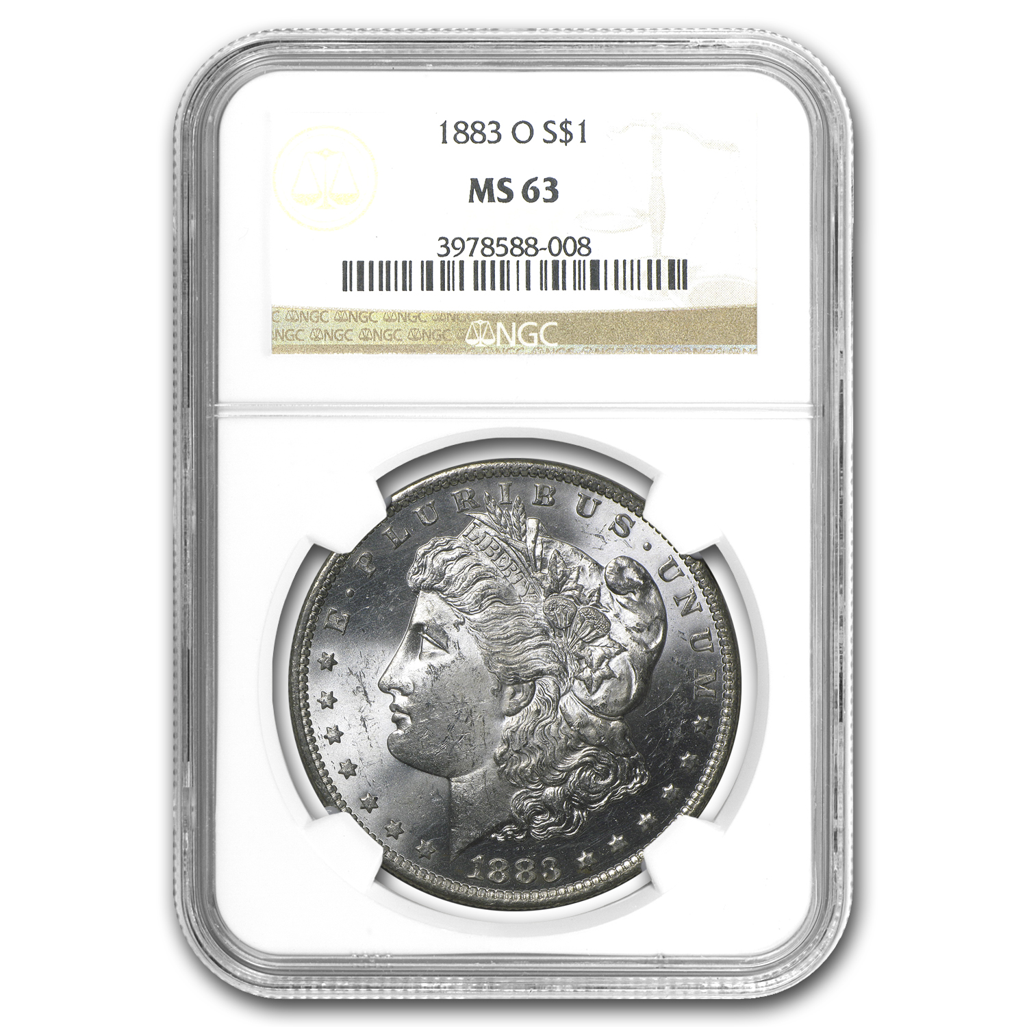 1883-O Morgan Dollar MS-63 NGC