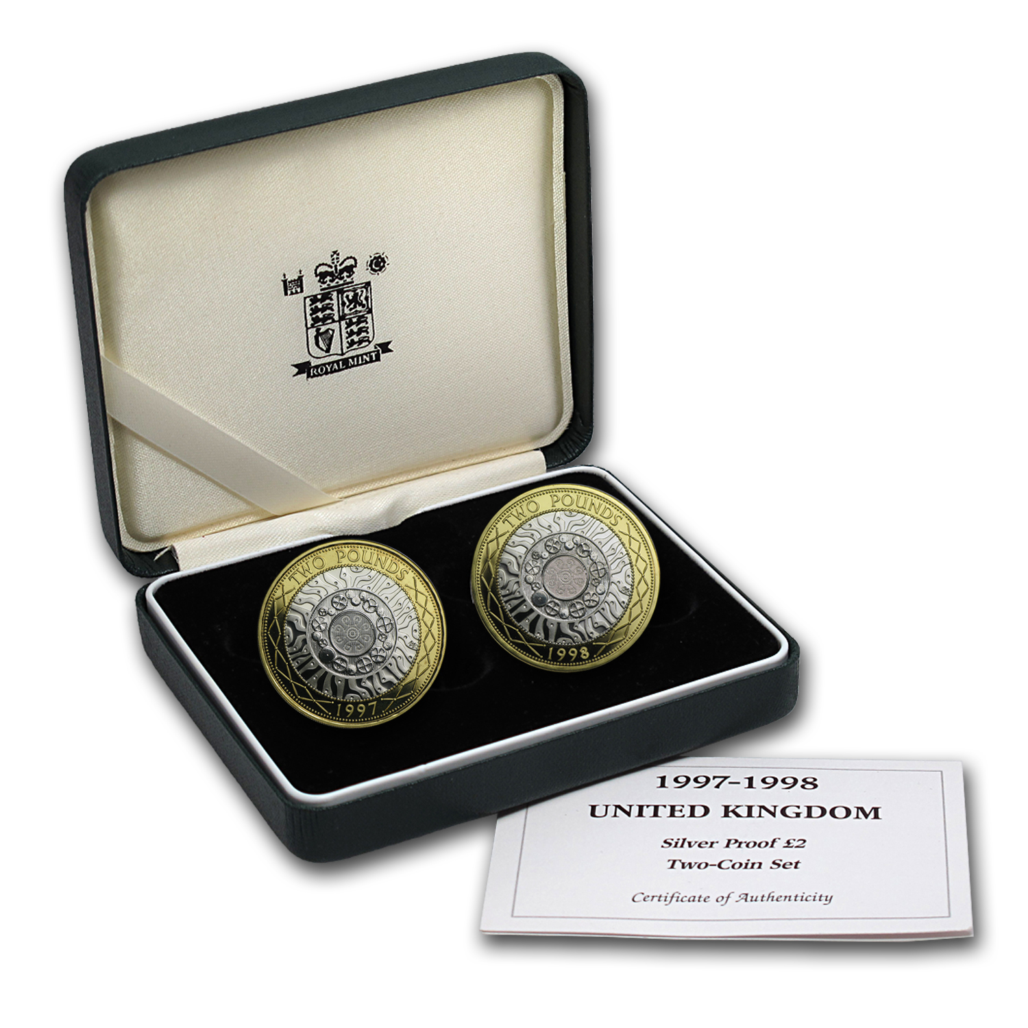 1997-1998 Great Britain 2-Coin Silver £2 Set