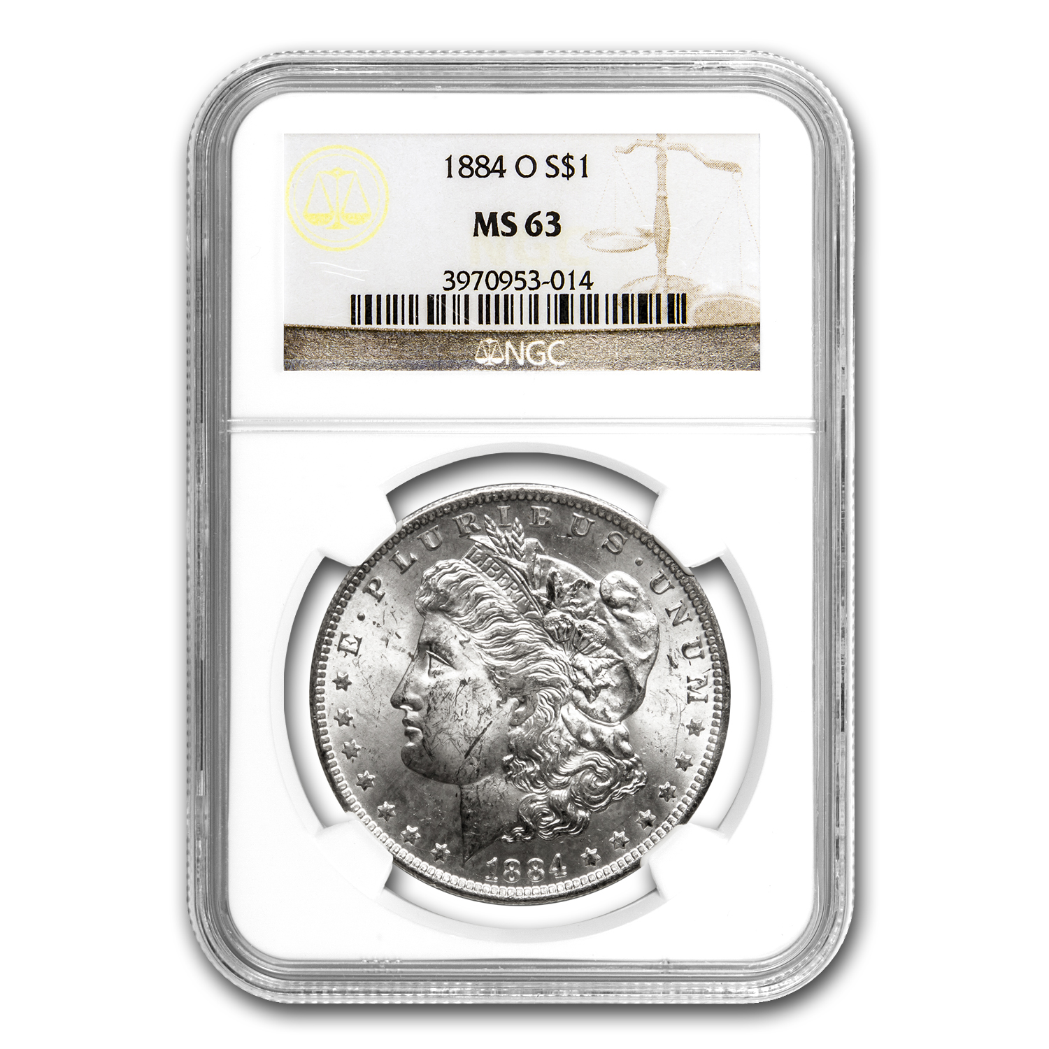 1884-O Morgan Dollar MS-63 NGC