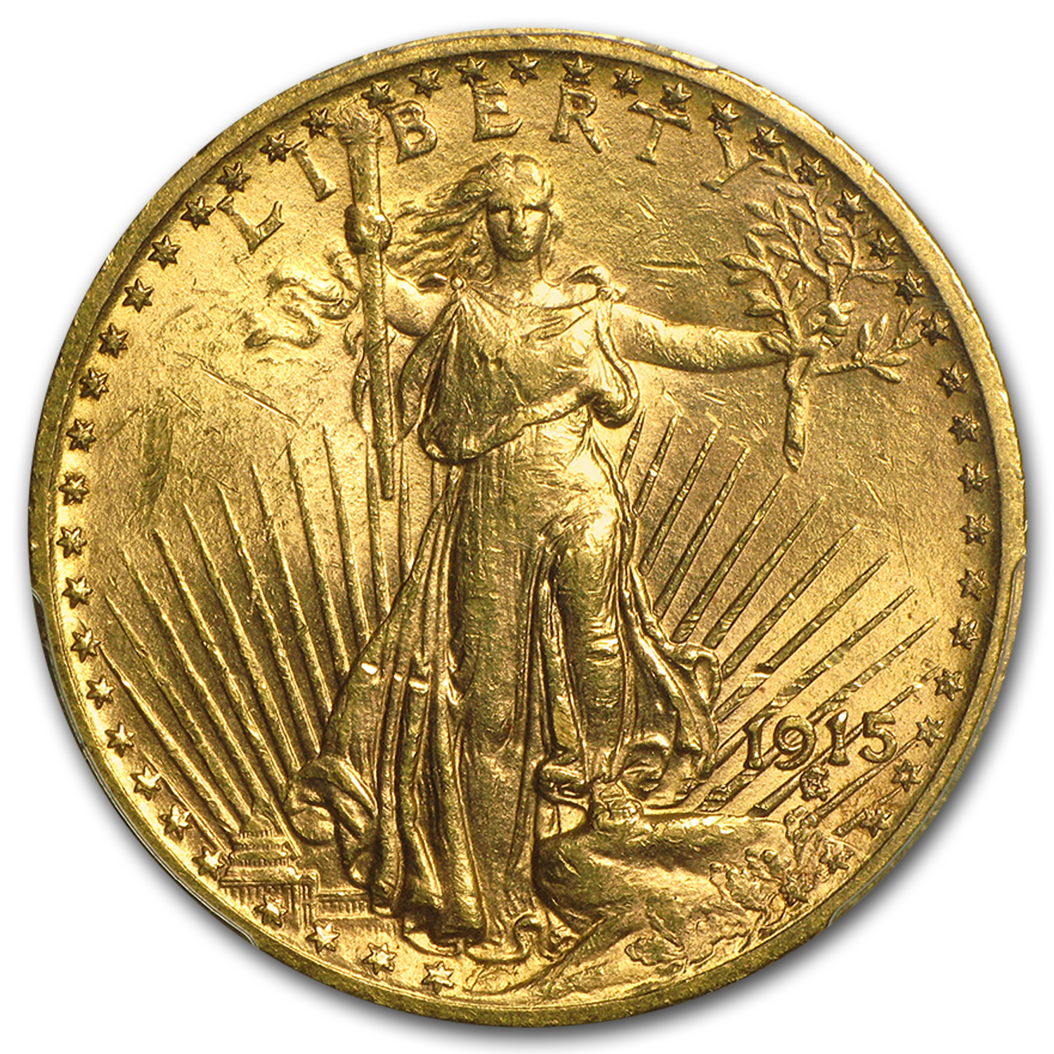 $20 Saint-Gaudens Gold Double Eagle MS-61 PCGS