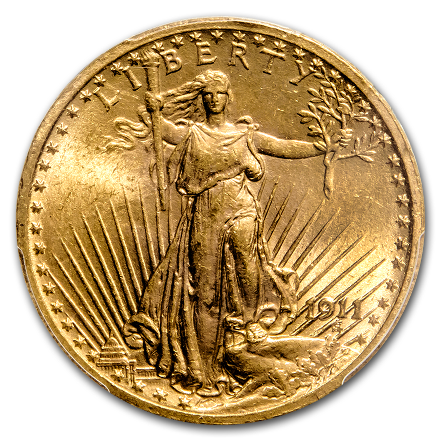 1911 $20 St. Gaudens Gold Double Eagle MS-63 PCGS