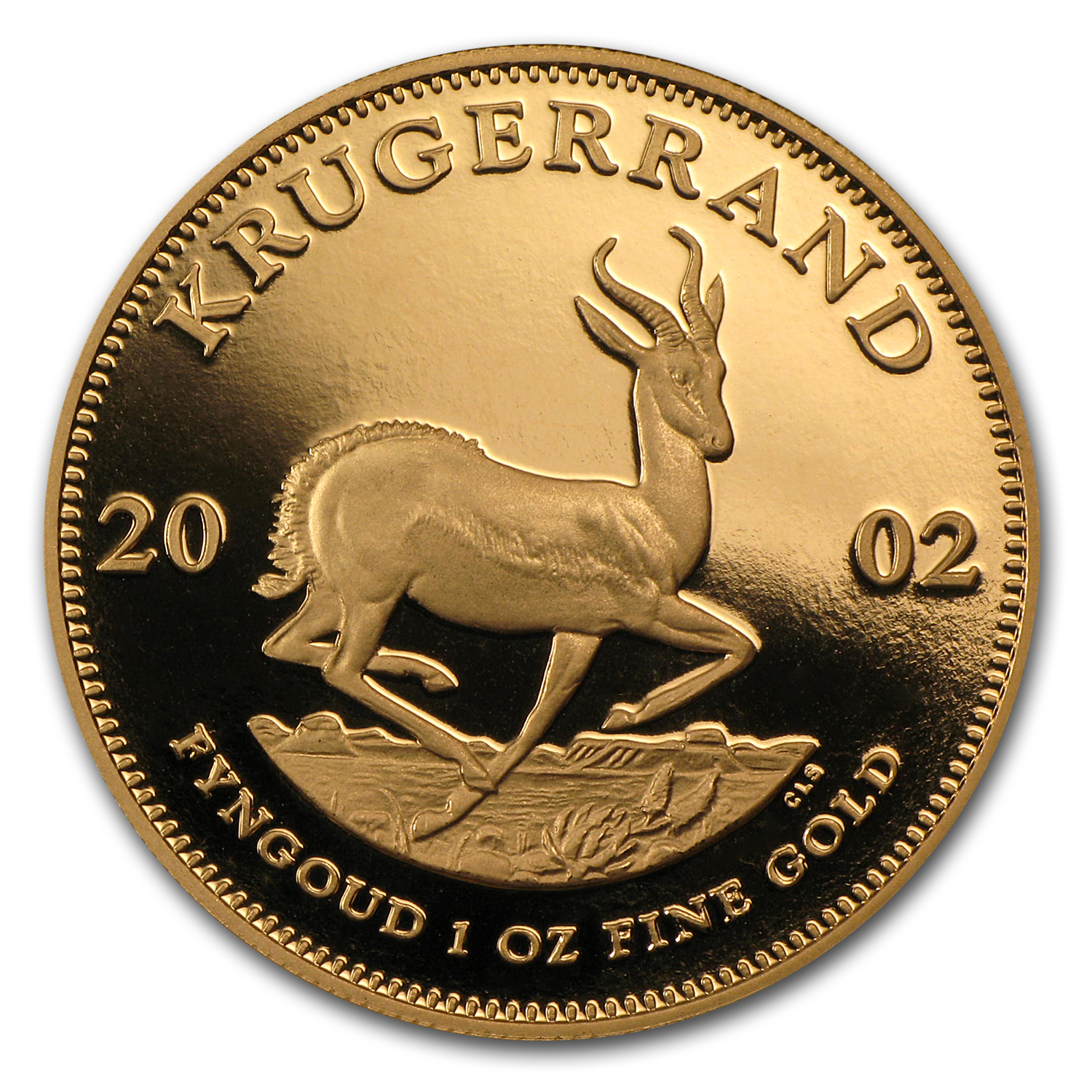 2002 South Africa 1 oz Proof Gold Krugerrand (w/Box & COA)