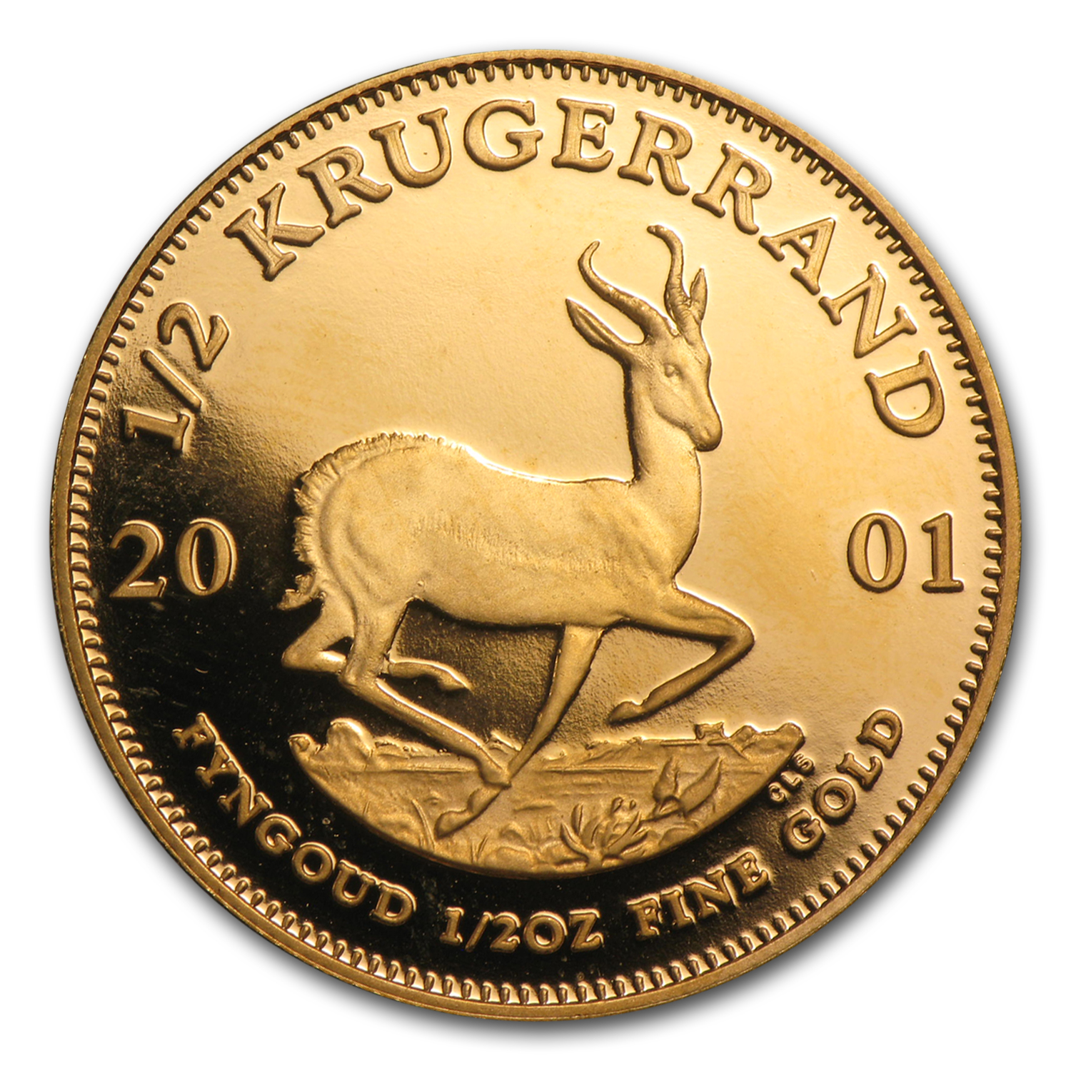 2001 South Africa 1/2 oz Proof Gold Krugerrand