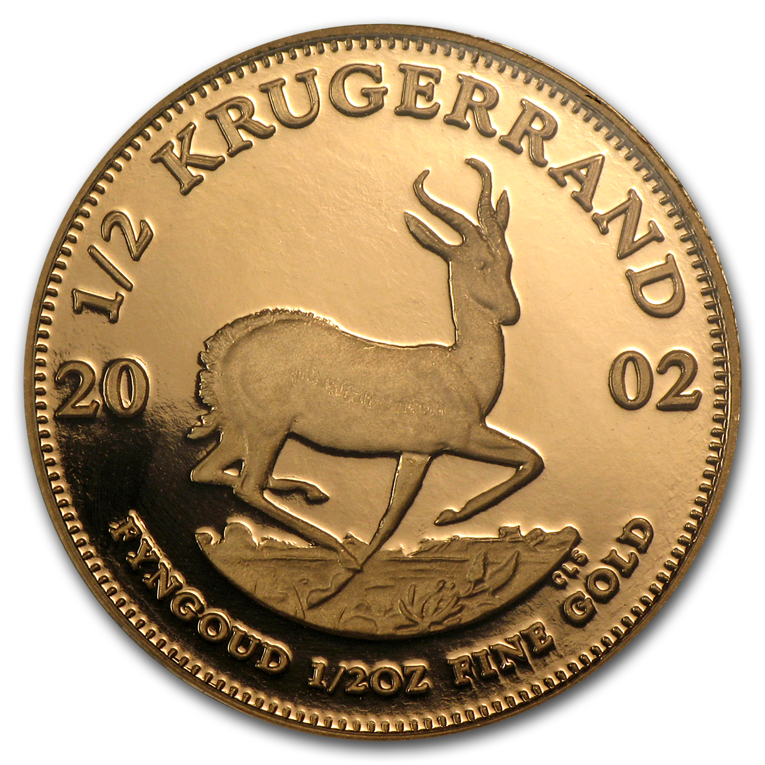 2002 South Africa 1/2 oz Proof Gold Krugerrand