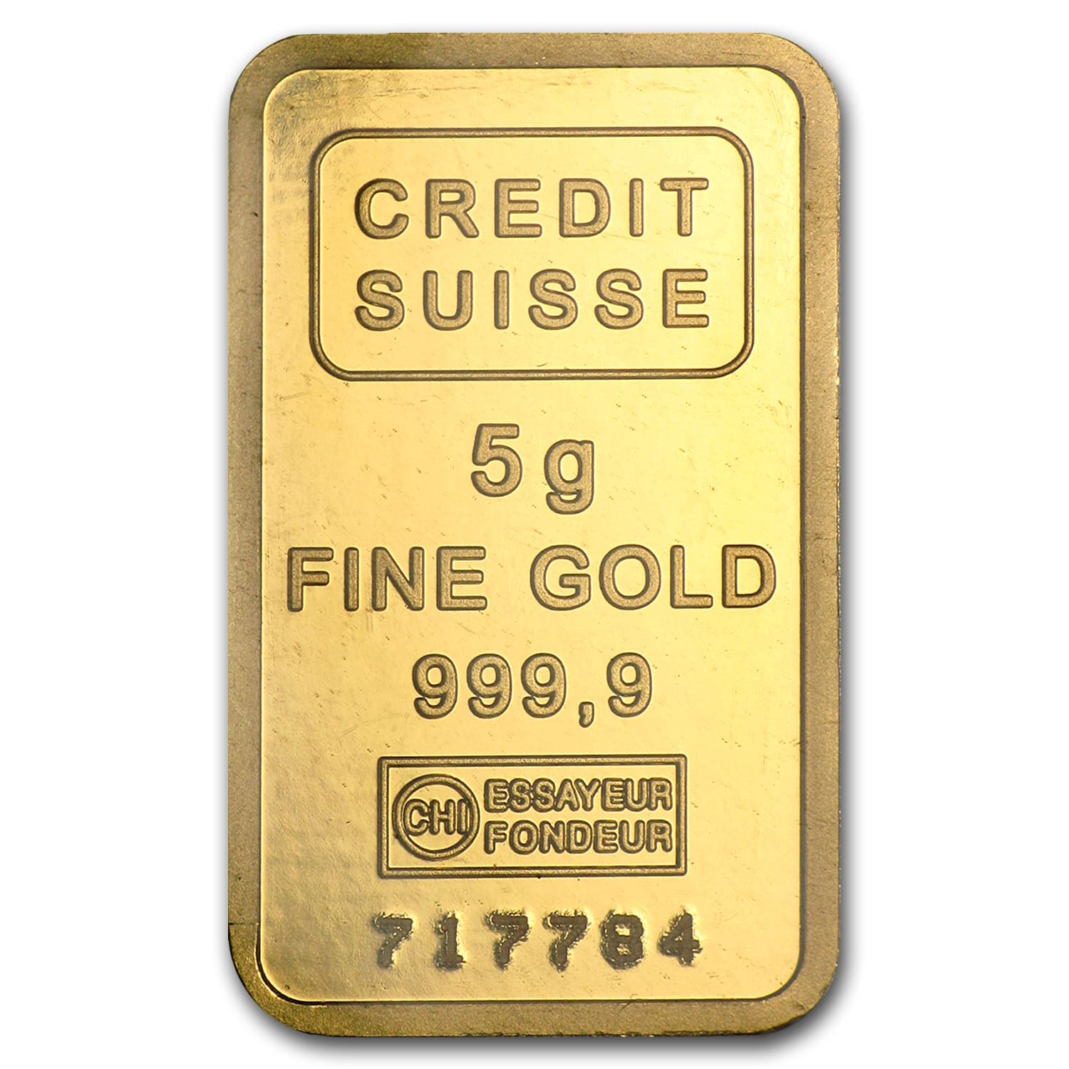 5 gram Gold Bar - Credit Suisse (Statue of Liberty)