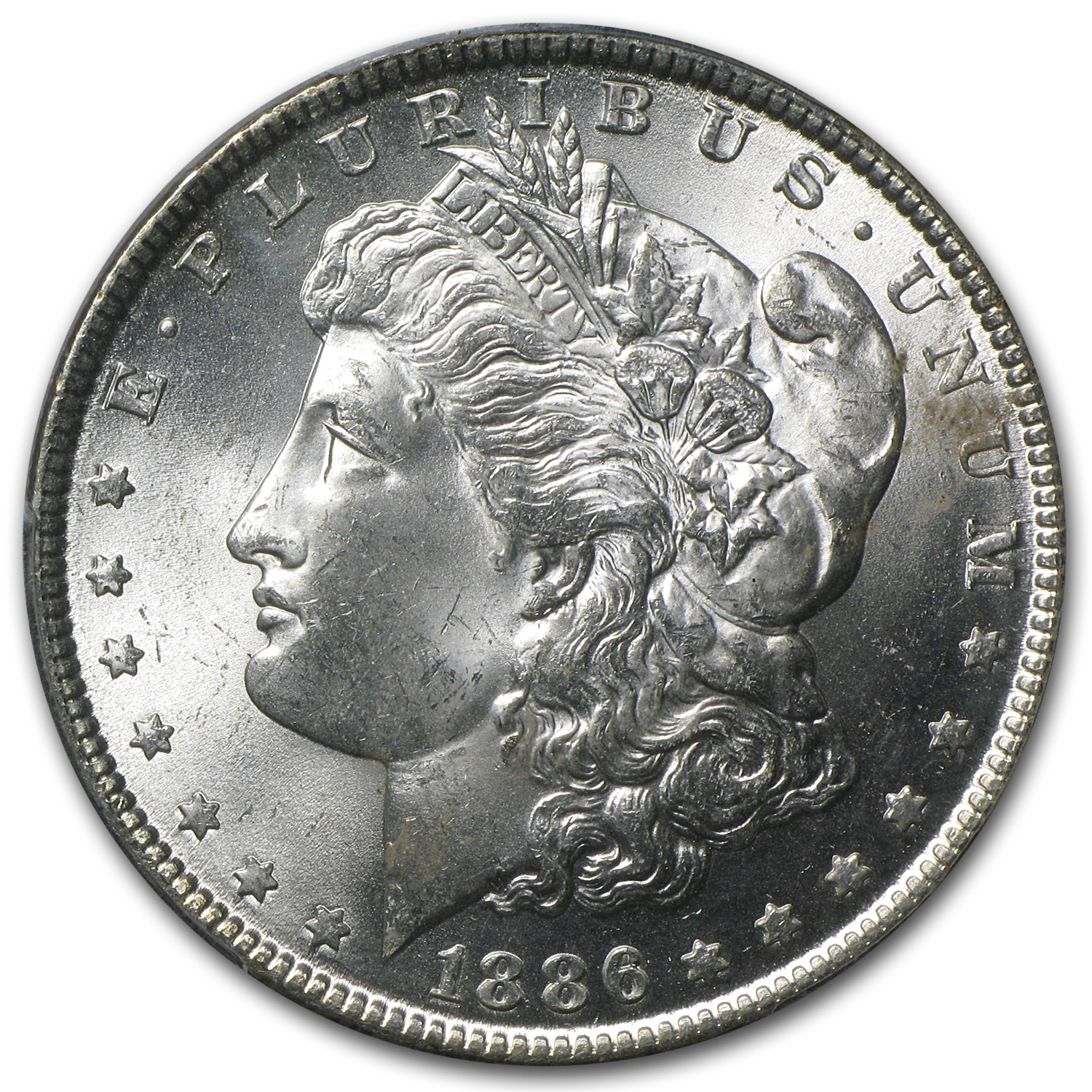 1886 Morgan Dollar MS-64 PCGS