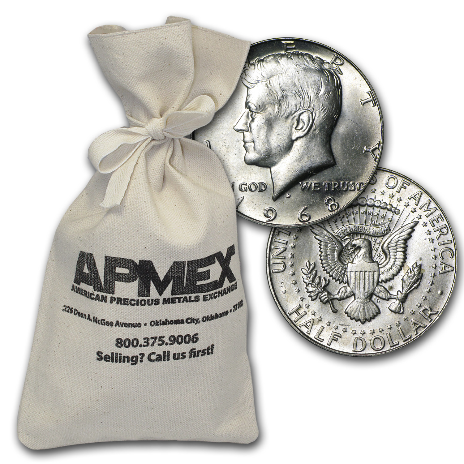40% Silver Coins $500 Face Value Bag Avg Circ