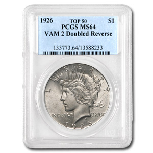 1926 Peace Dollar MS-64 PCGS (VAM-2 Doubled Leaves, Top-50)