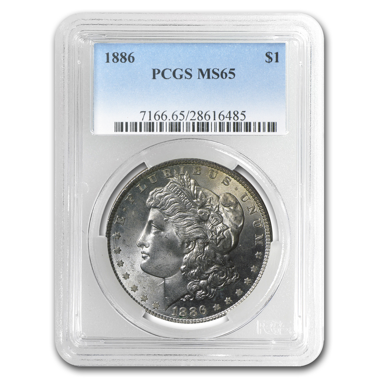 1886 Morgan Dollar MS-65 PCGS