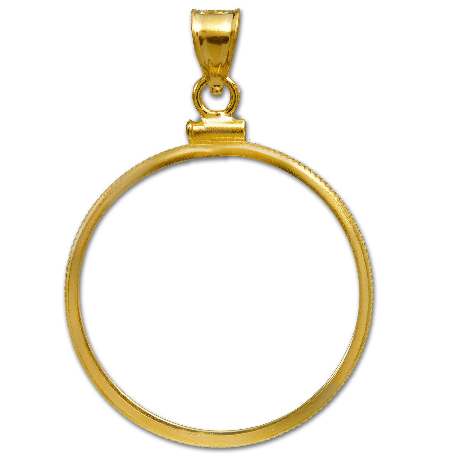 14K Gold Screw-Top Plain-Front Coin Bezel ($10 U.S. Gold)