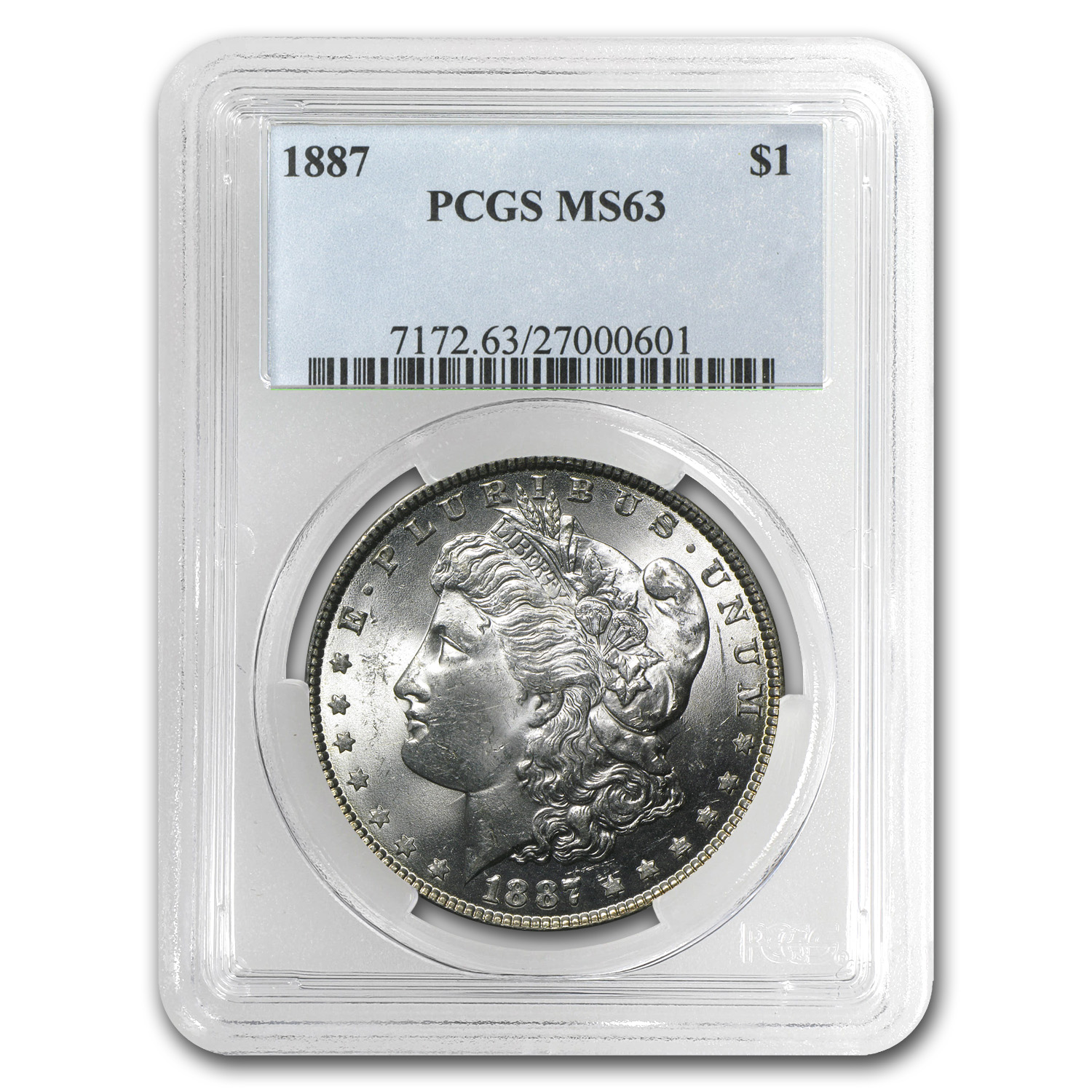 1887 Morgan Dollar MS-63 PCGS
