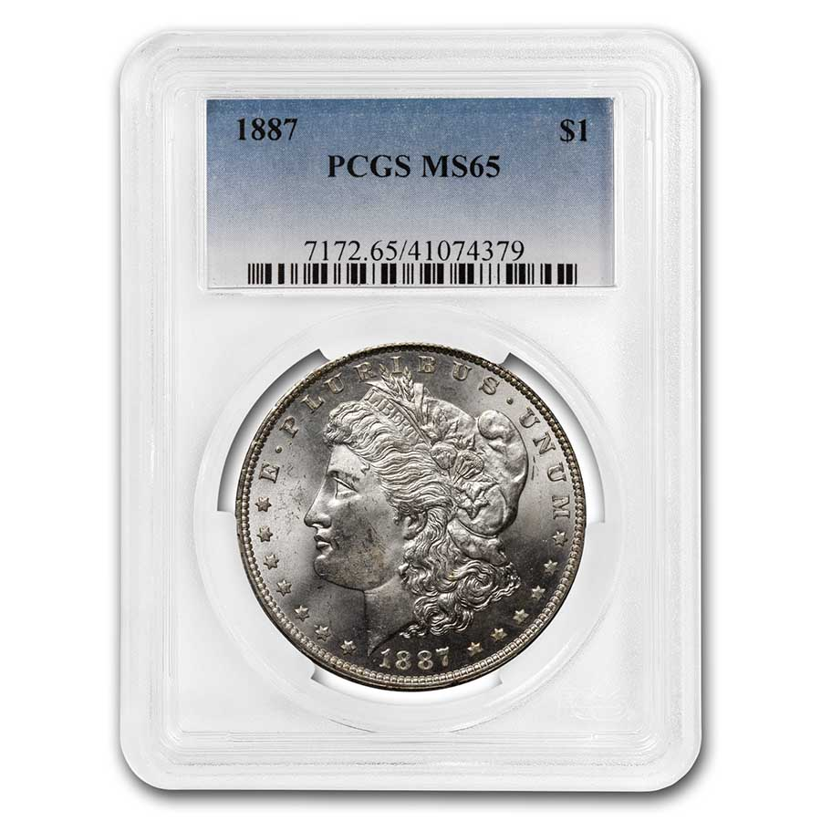 1887 Morgan Dollar MS-65 PCGS