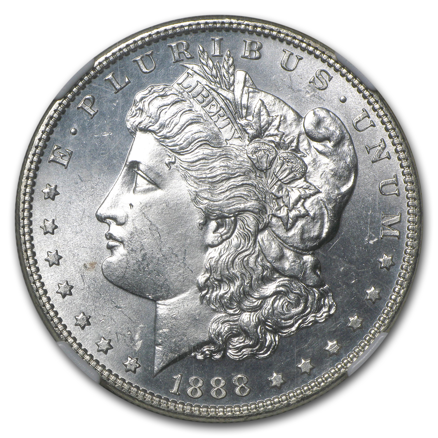 1888 Morgan Dollar MS-63 NGC