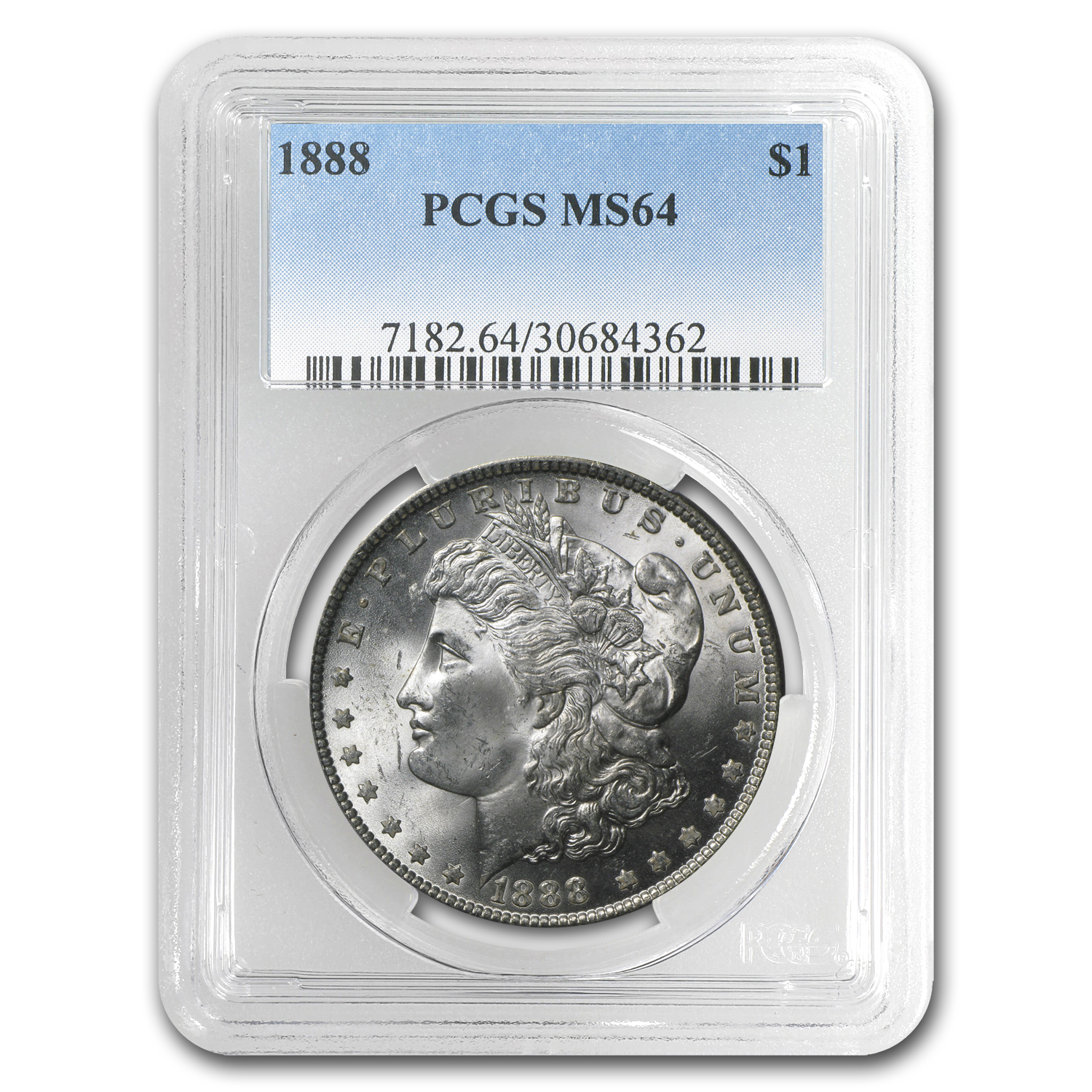 1888 Morgan Dollar - MS-64 PCGS
