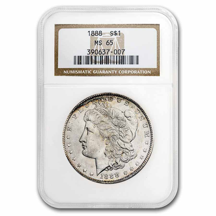 1888 Morgan Dollar MS-65 NGC