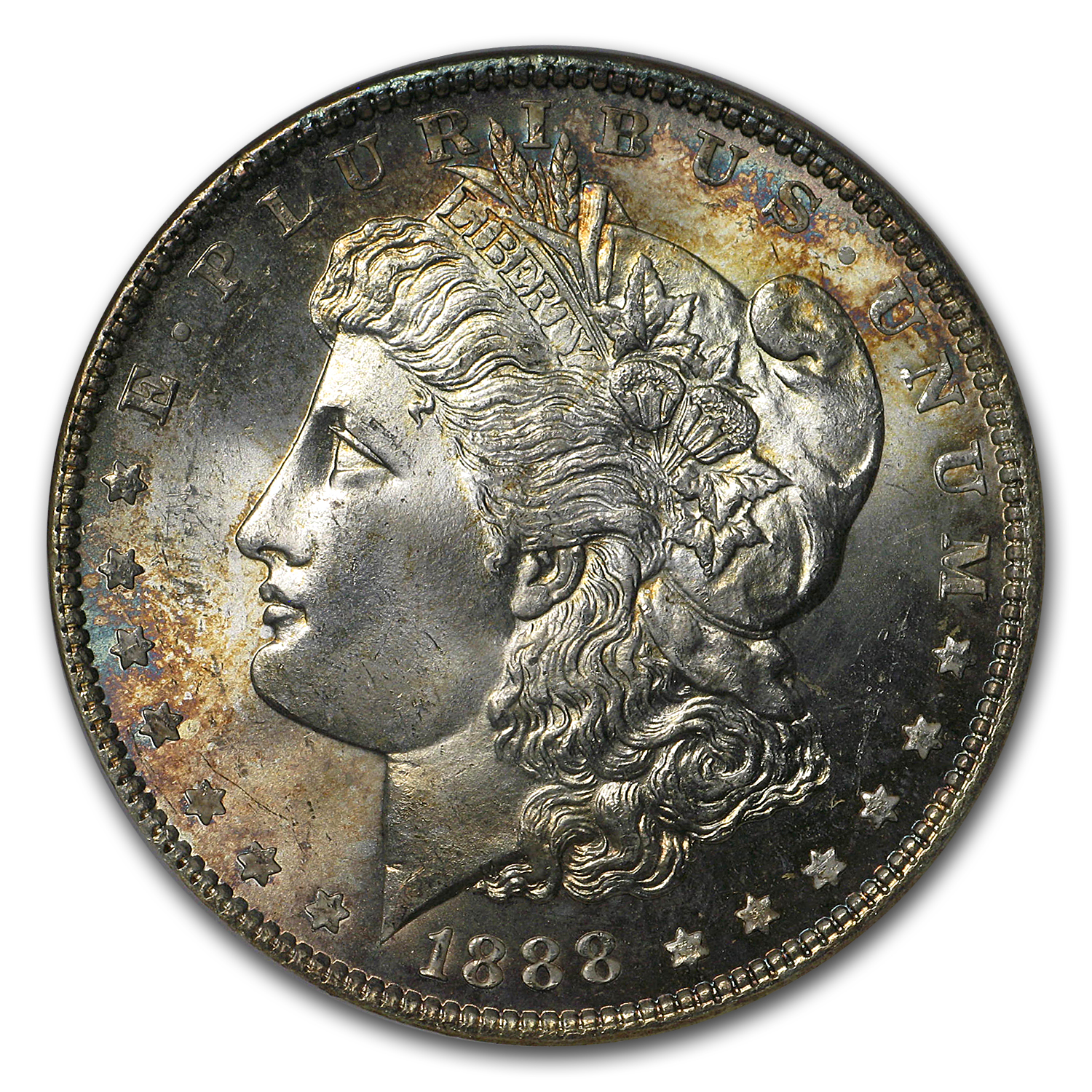 1888 Morgan Dollar MS-65 NGC (Toned Obv & Rev)