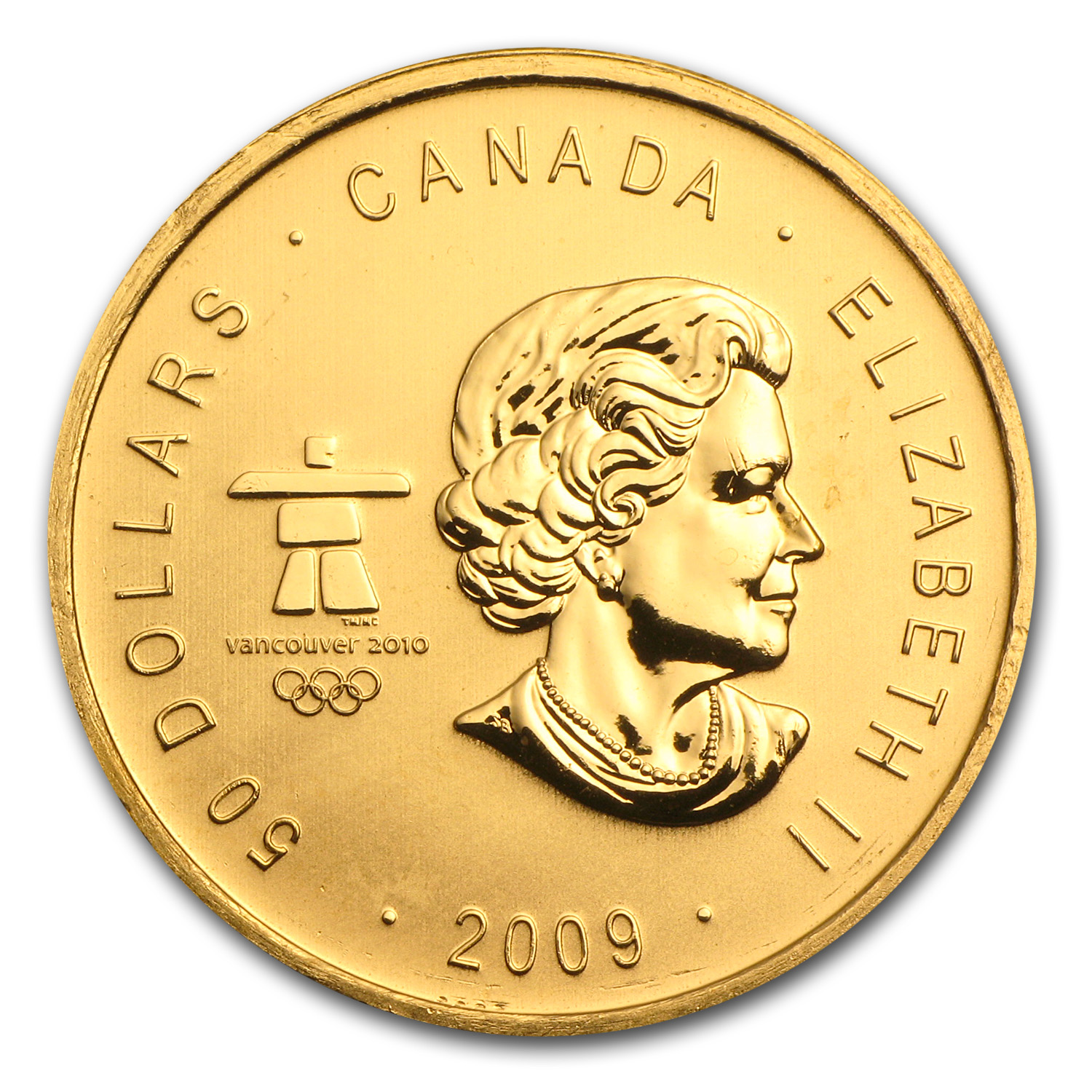 2009 Canada 1 oz Gold Maple Leaf BU (Vancouver Olympics)
